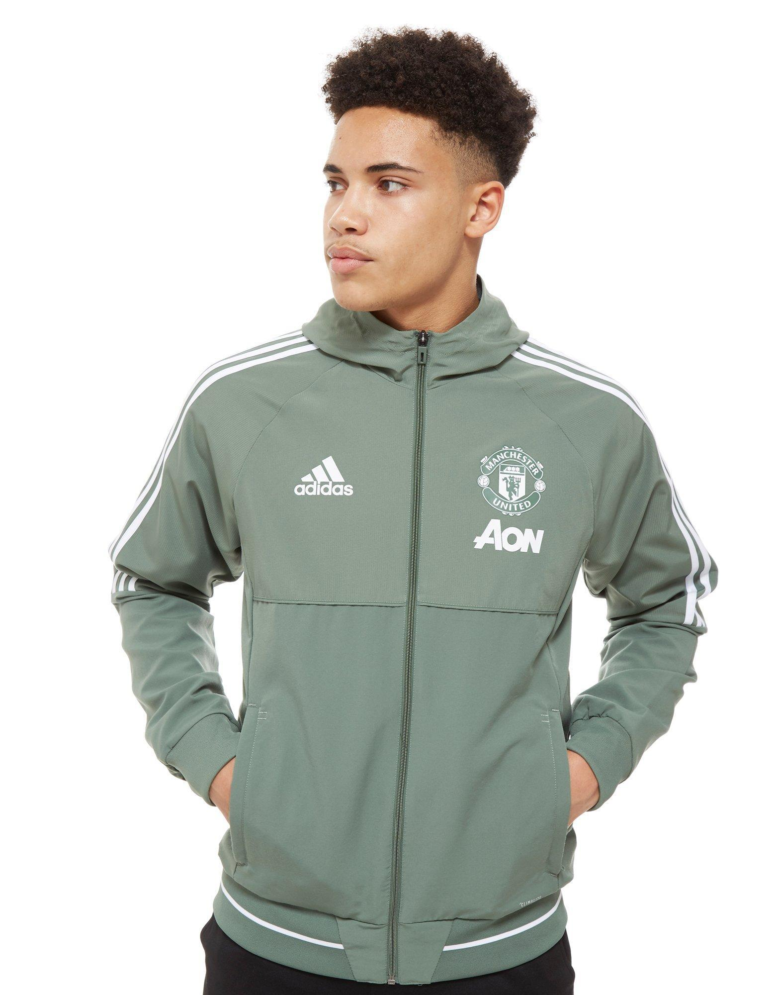 Lyst Adidas 19282 Manchester United Fc Chaqueta De Verde)