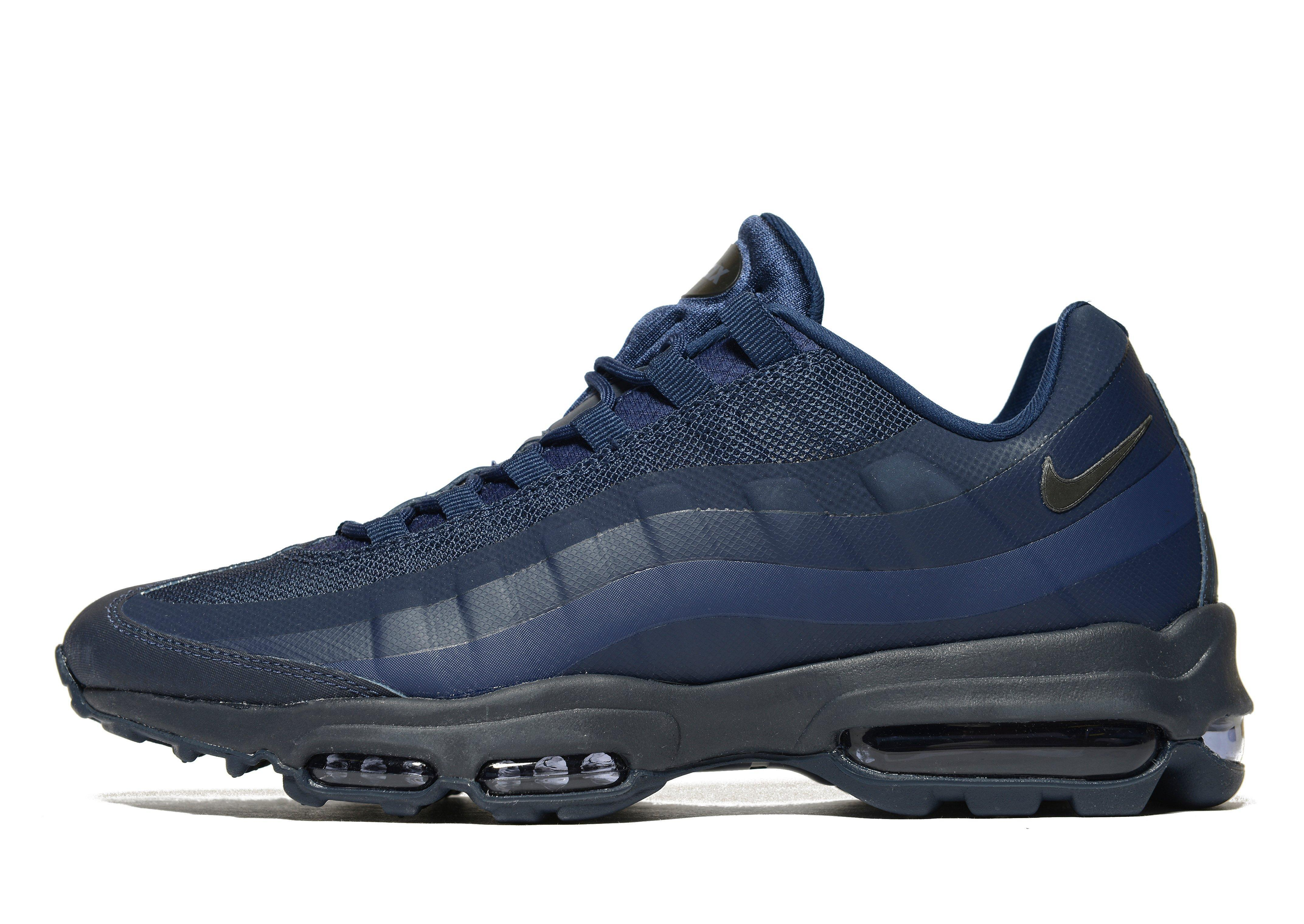 lyst nike air max 95 ultra essential in blue for men. Black Bedroom Furniture Sets. Home Design Ideas