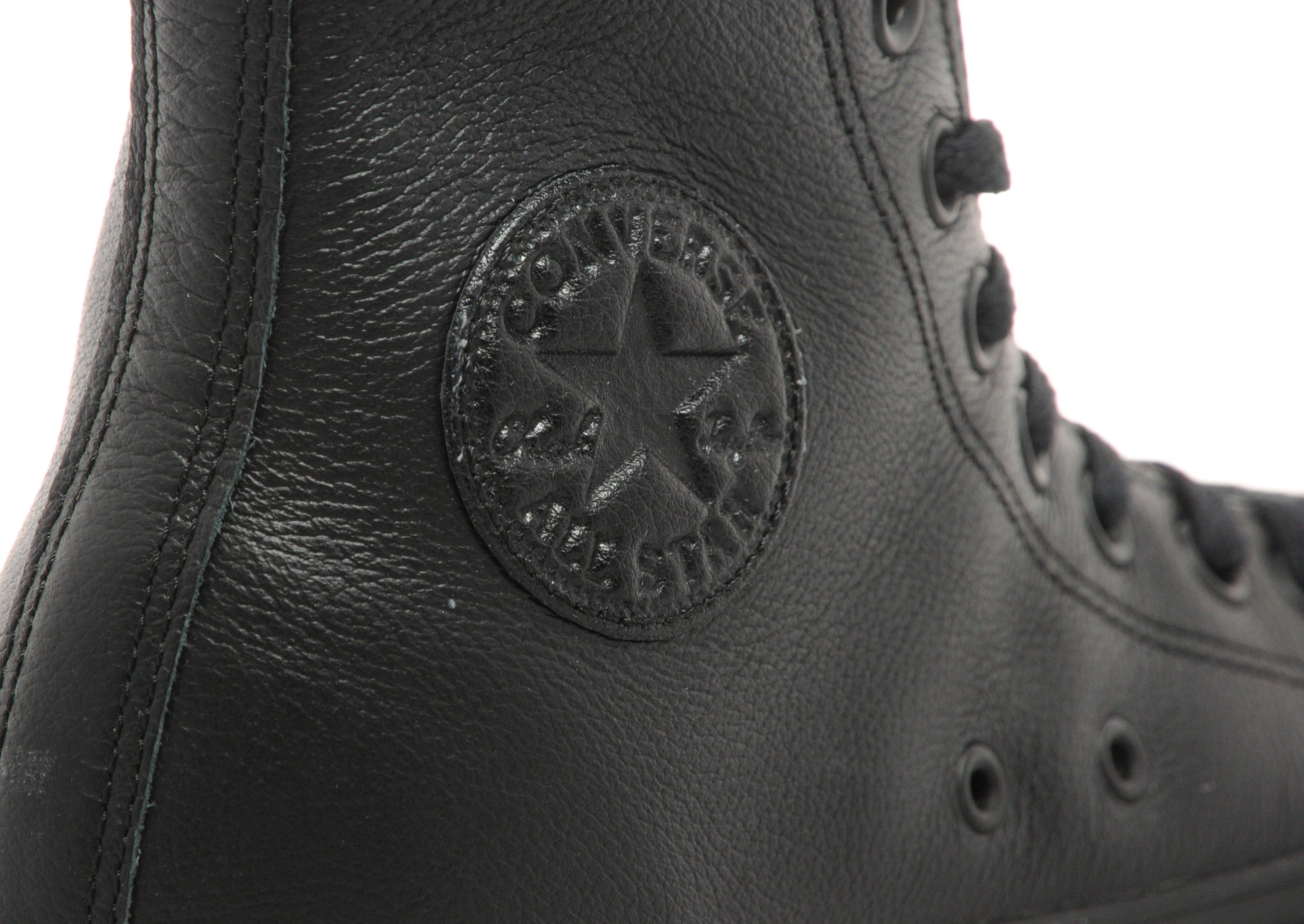 Converse All Star Hi Leather Mono in Black for Men