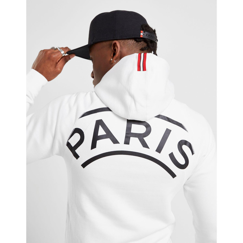 psg jordan hoodie white