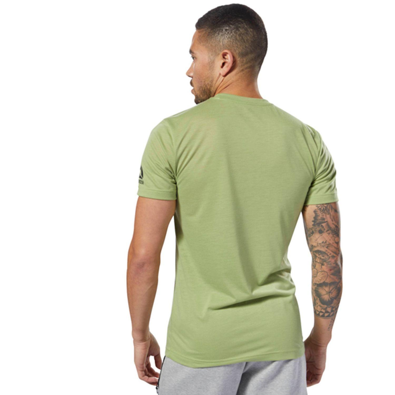 7a37ea6b Reebok - Green Crossfit Speedwick F.e.f. Graphic Tee for Men - Lyst. View  fullscreen