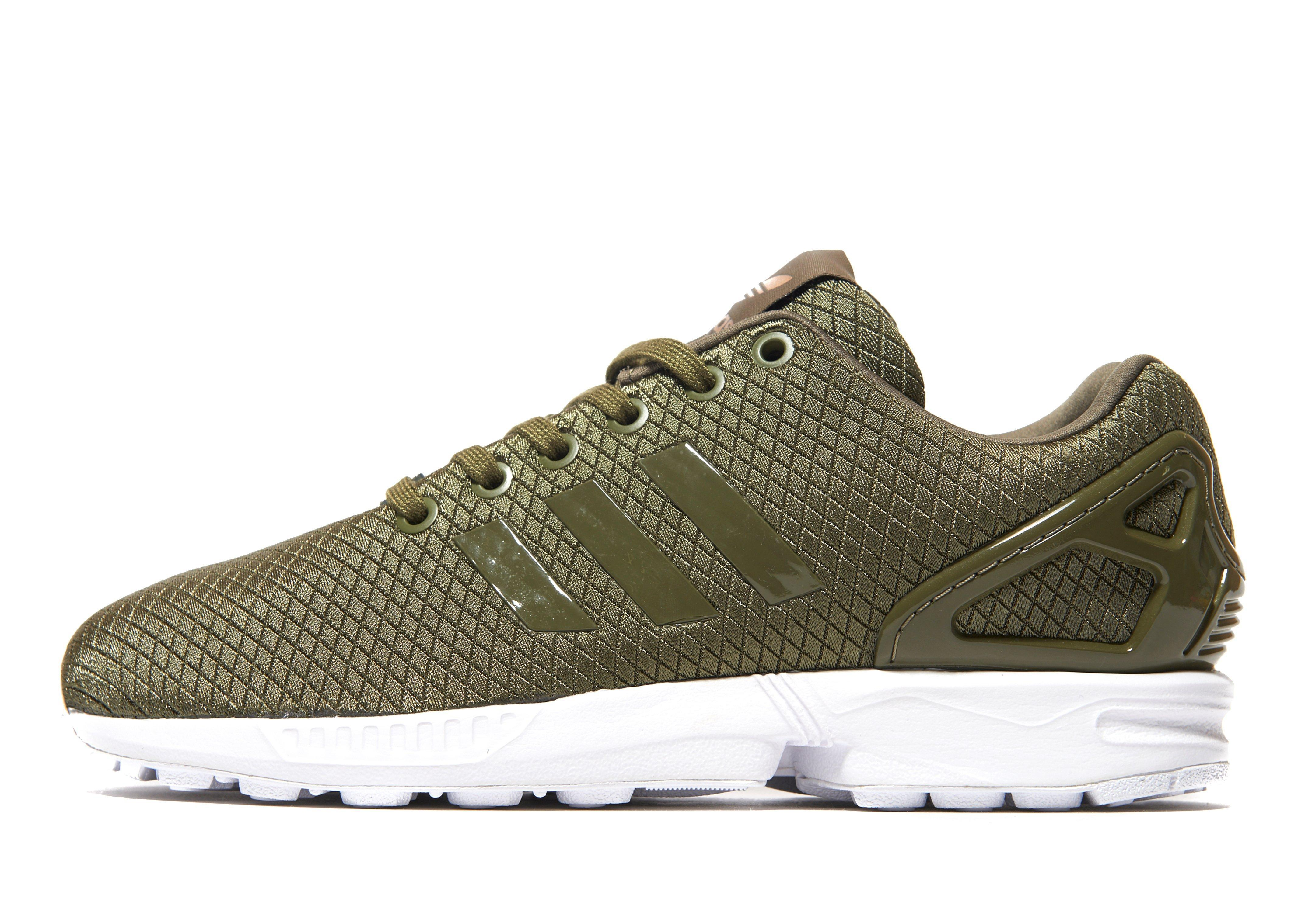 lyst adidas originals zx flux in green. Black Bedroom Furniture Sets. Home Design Ideas