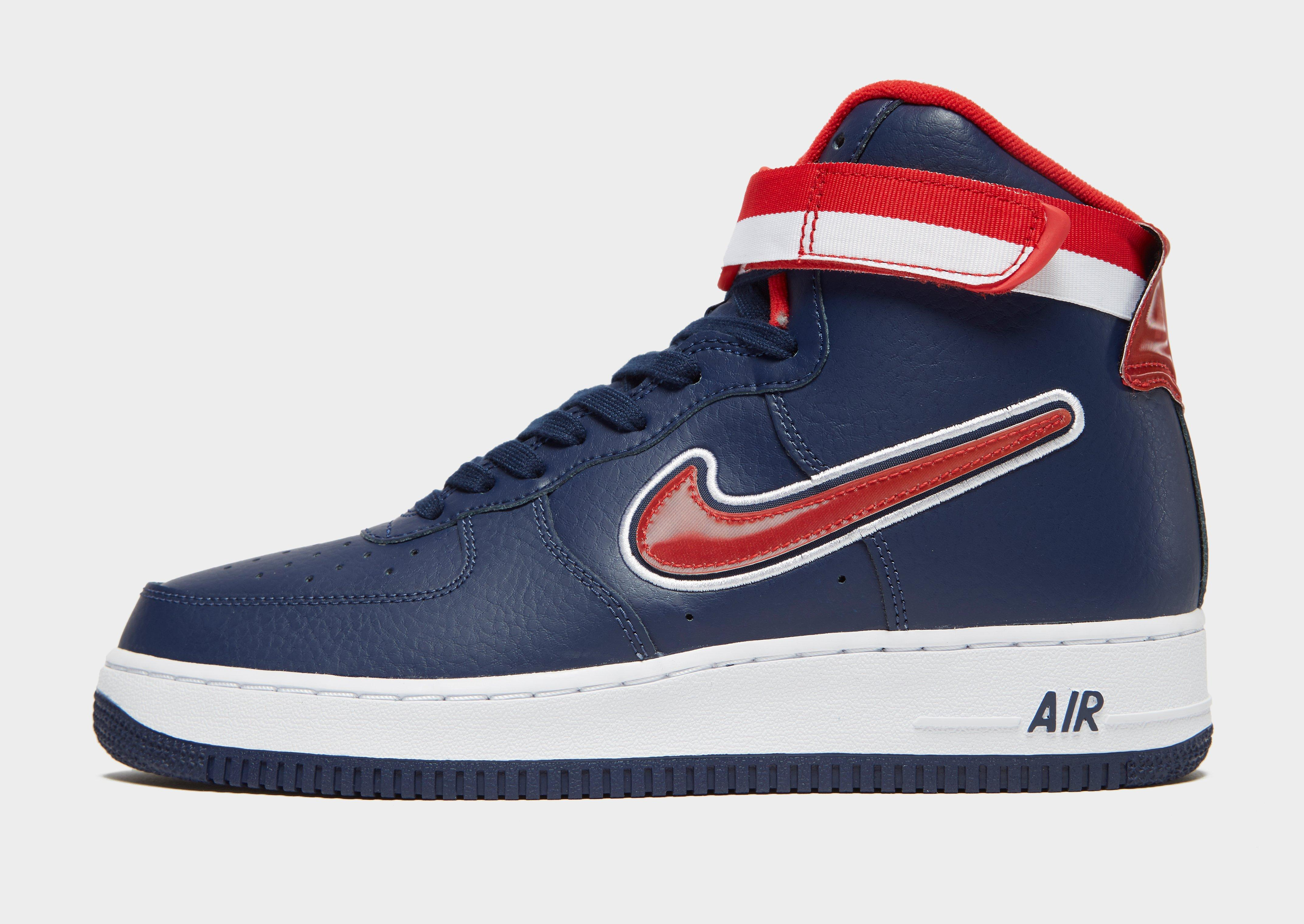 Nike Leather Air Force 1 High Nba In Blue Red Blue For Men Lyst