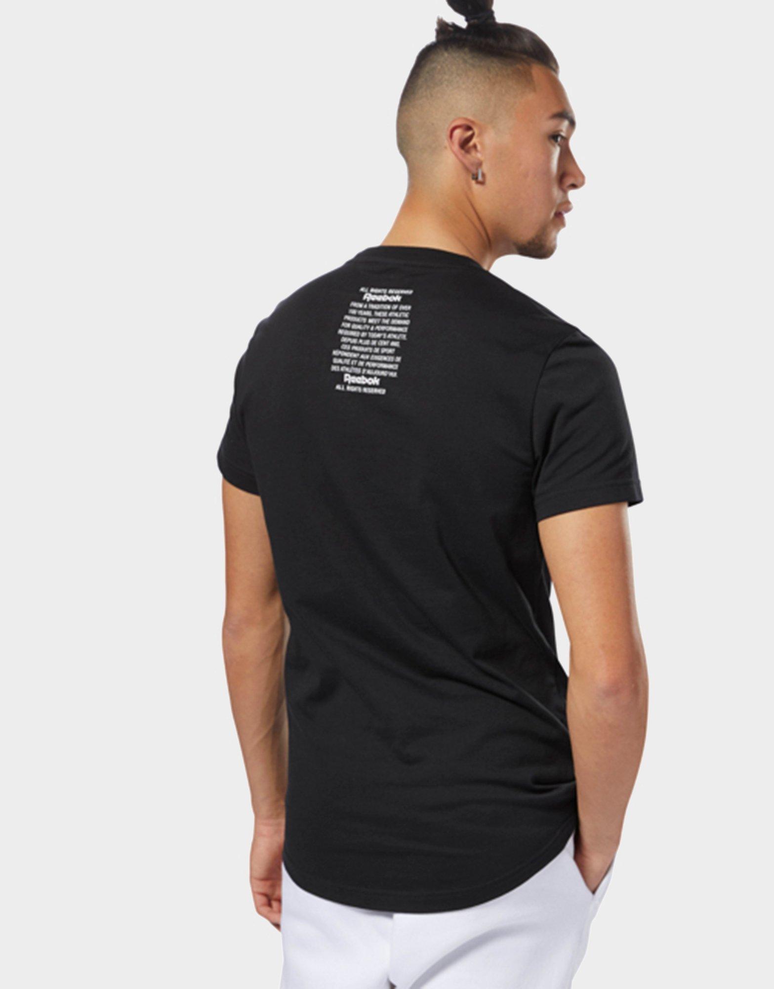 d169008d Reebok Black Classics Unisex Short Sleeve Extended Tee for men