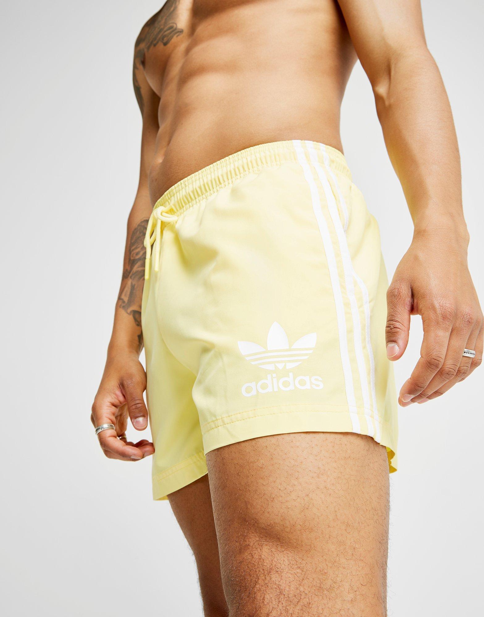0268e6c1e0 adidas Originals California Swimshorts in Yellow for Men - Lyst