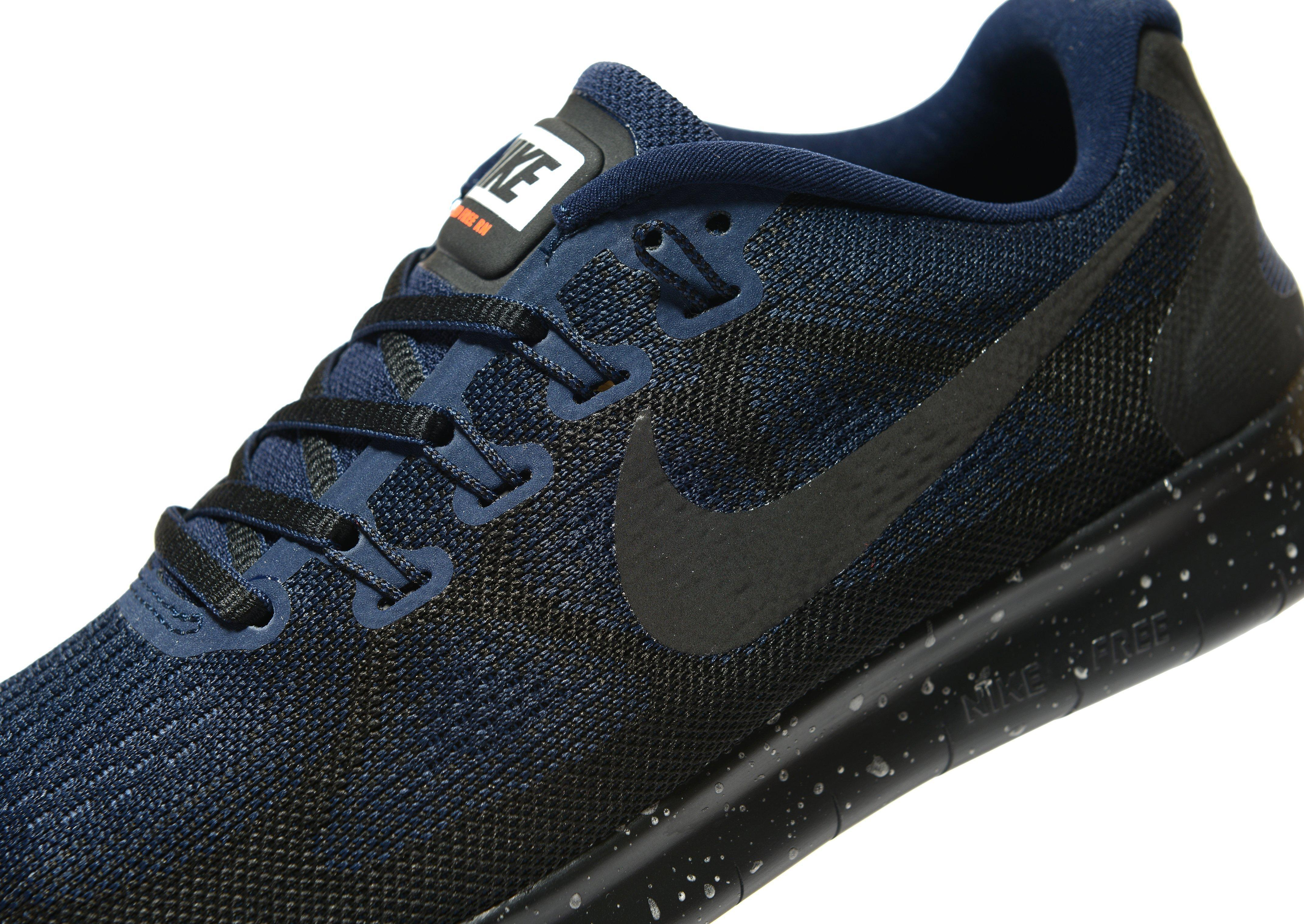 salvar Destino Normal  Nike Synthetic Free Run Shield in Black/Blue (Blue) - Lyst