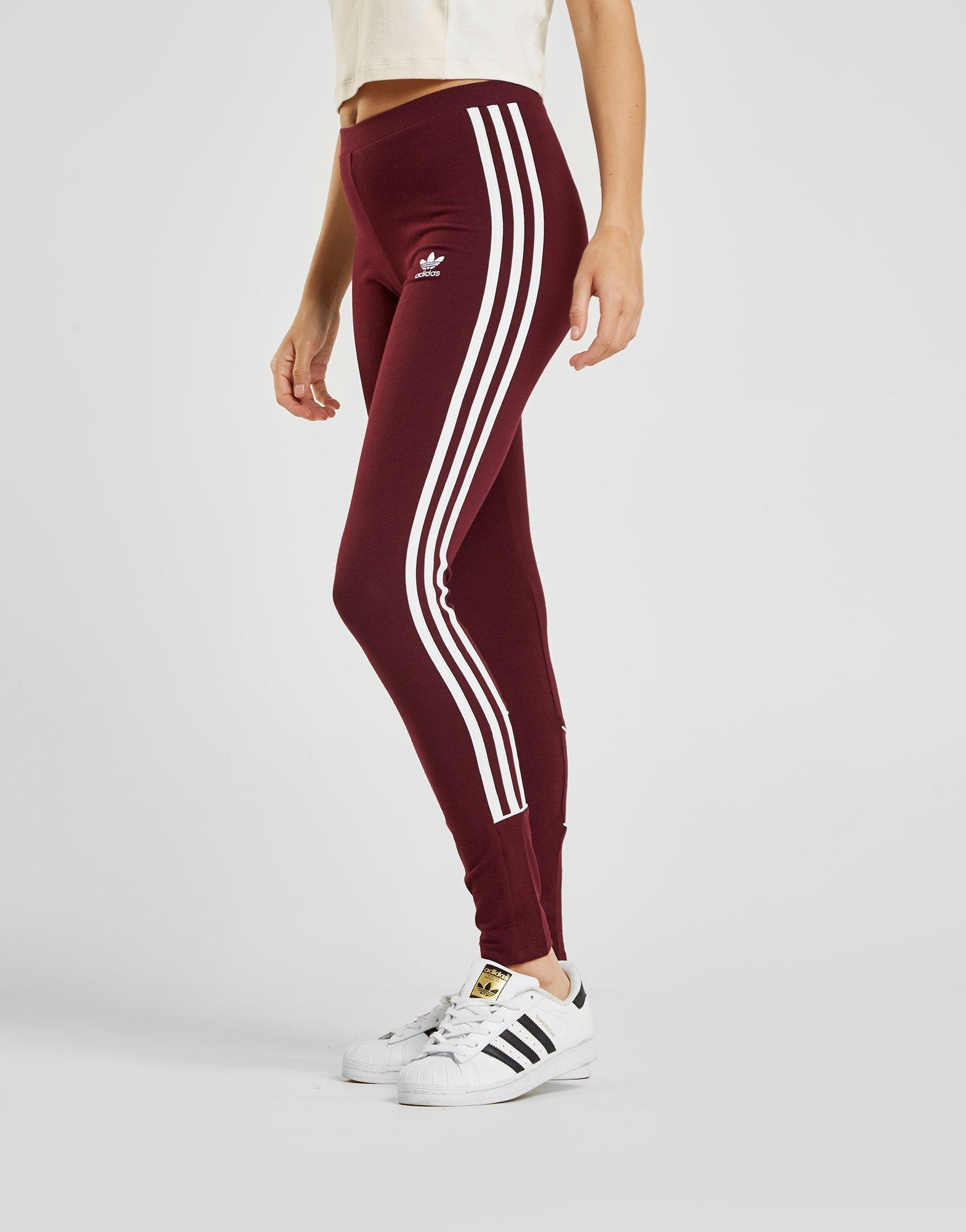 0e62e8fc1fa adidas Originals 3-stripes Piping Leggings in Red - Lyst
