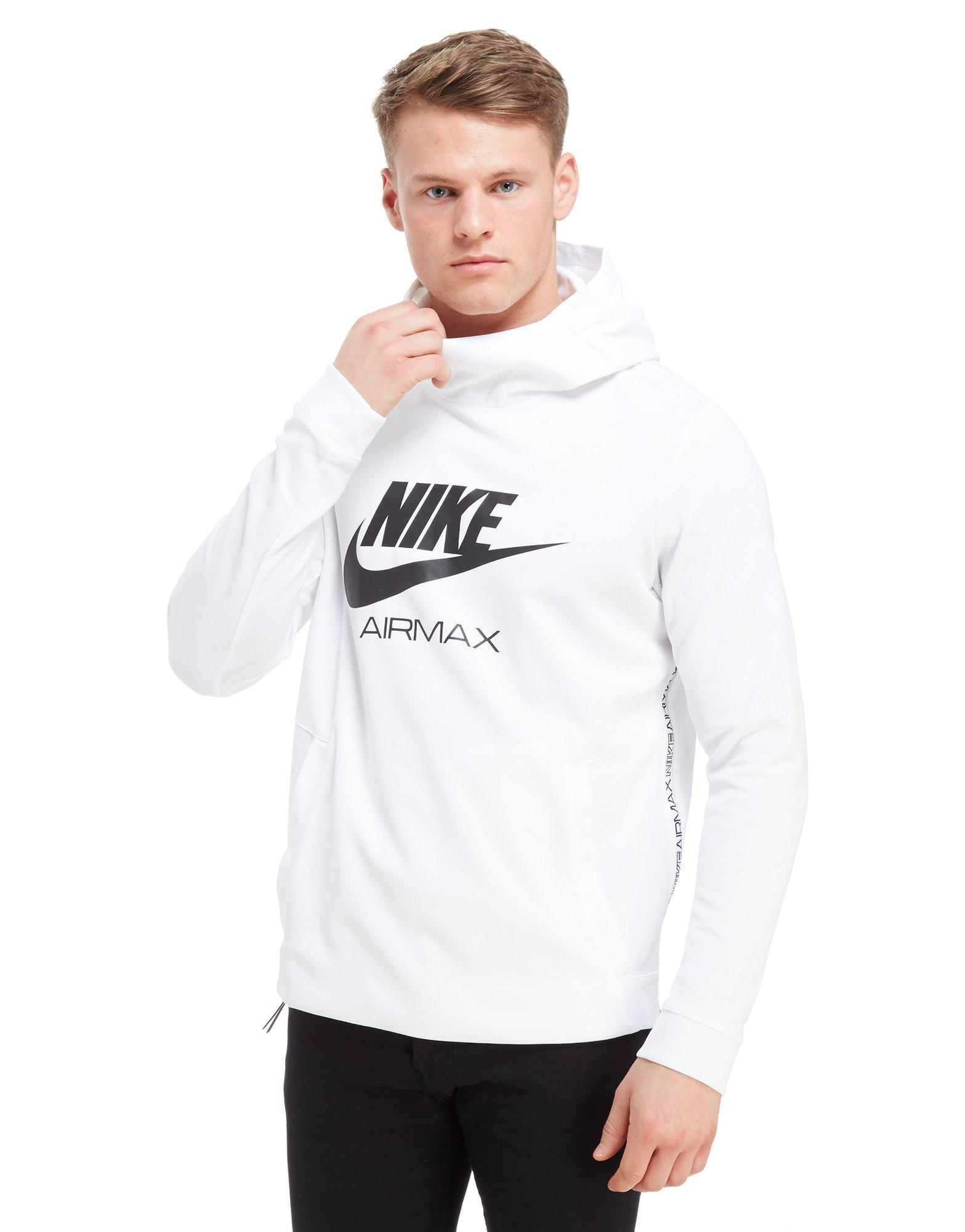 novel style unparalleled outlet for sale Nike White Air Max Poly Overhead Hoodie for men