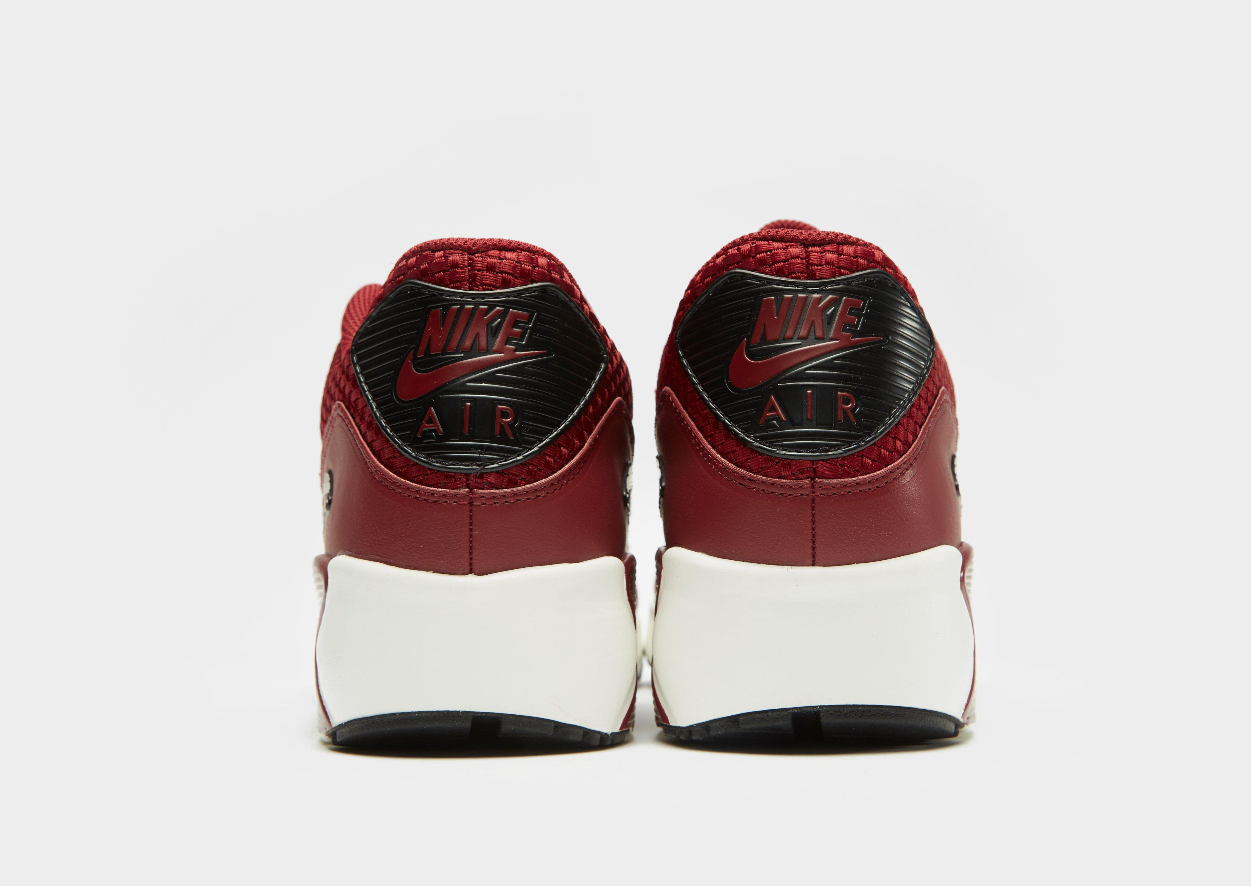 Nike Leather Air Max 90 Ultra 2.0 in Red/Black (Red) for Men