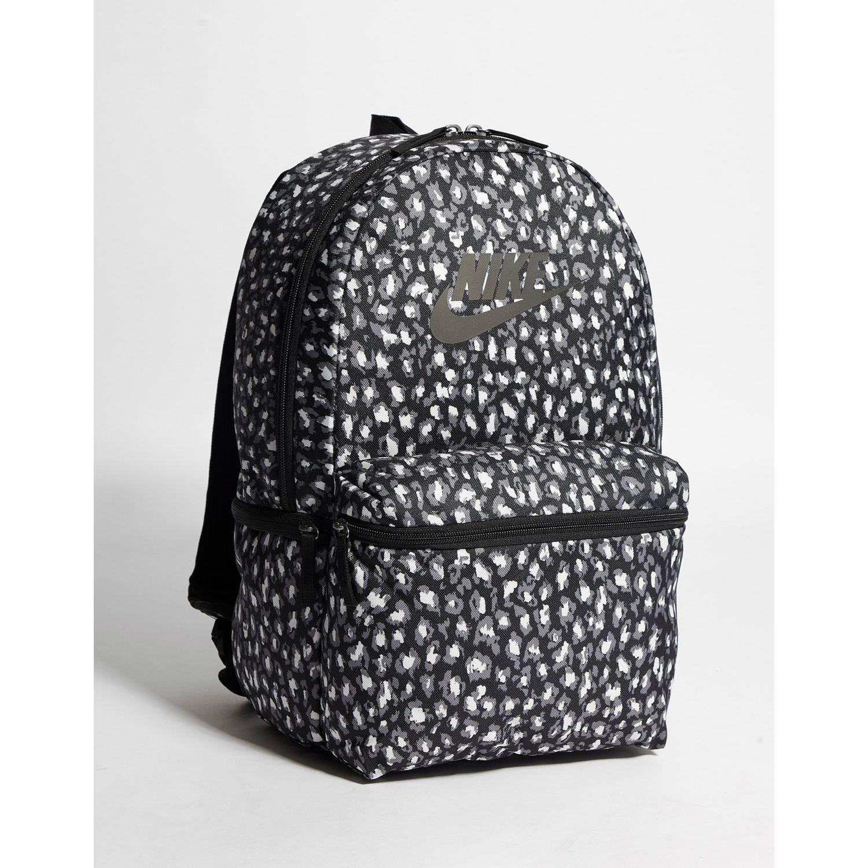 Heritage Animal Print Backpack in Black