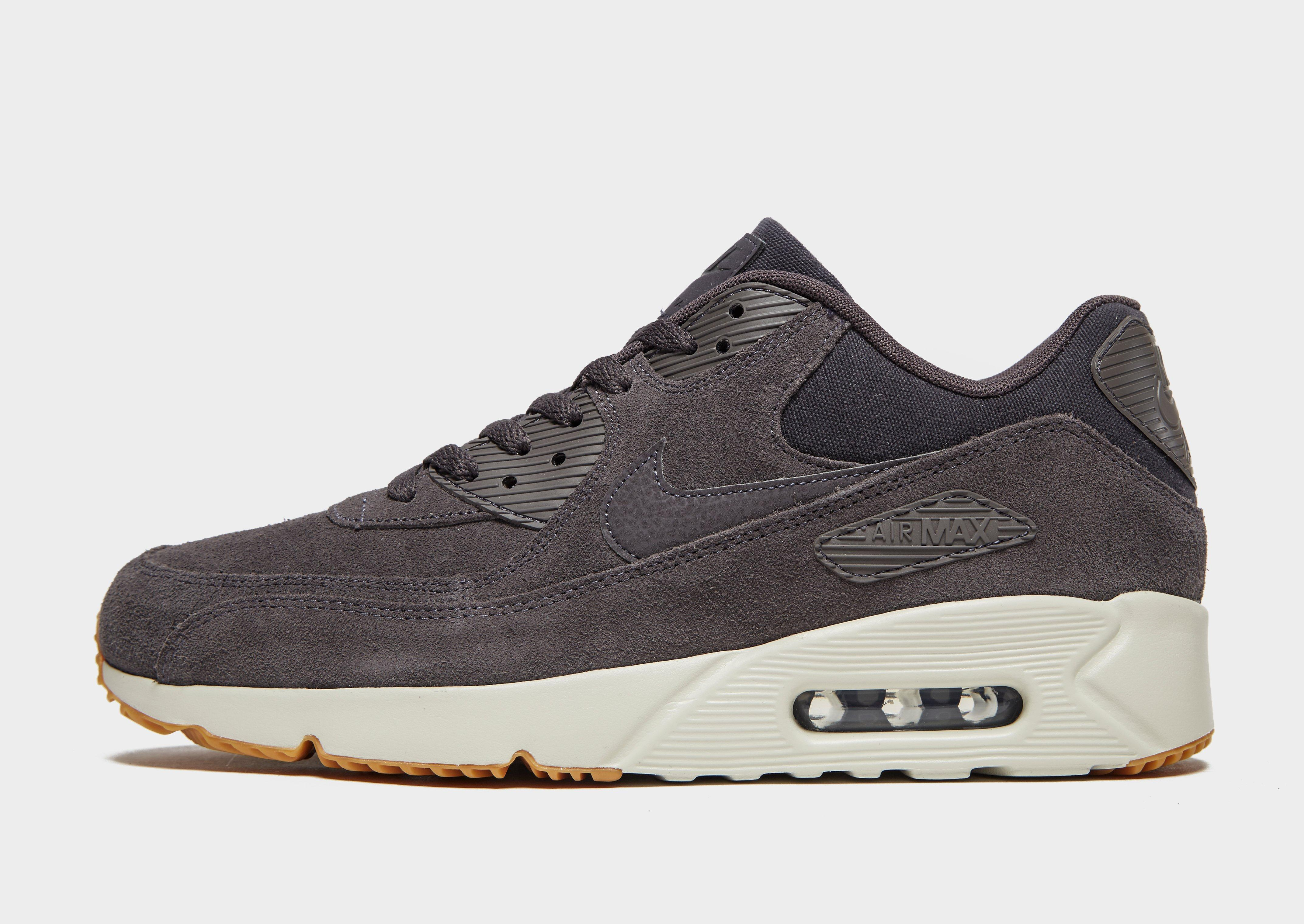Nike Leather Air Max 90 Ultra 2.0 Ltr Gymnastics Shoes in Grey ...