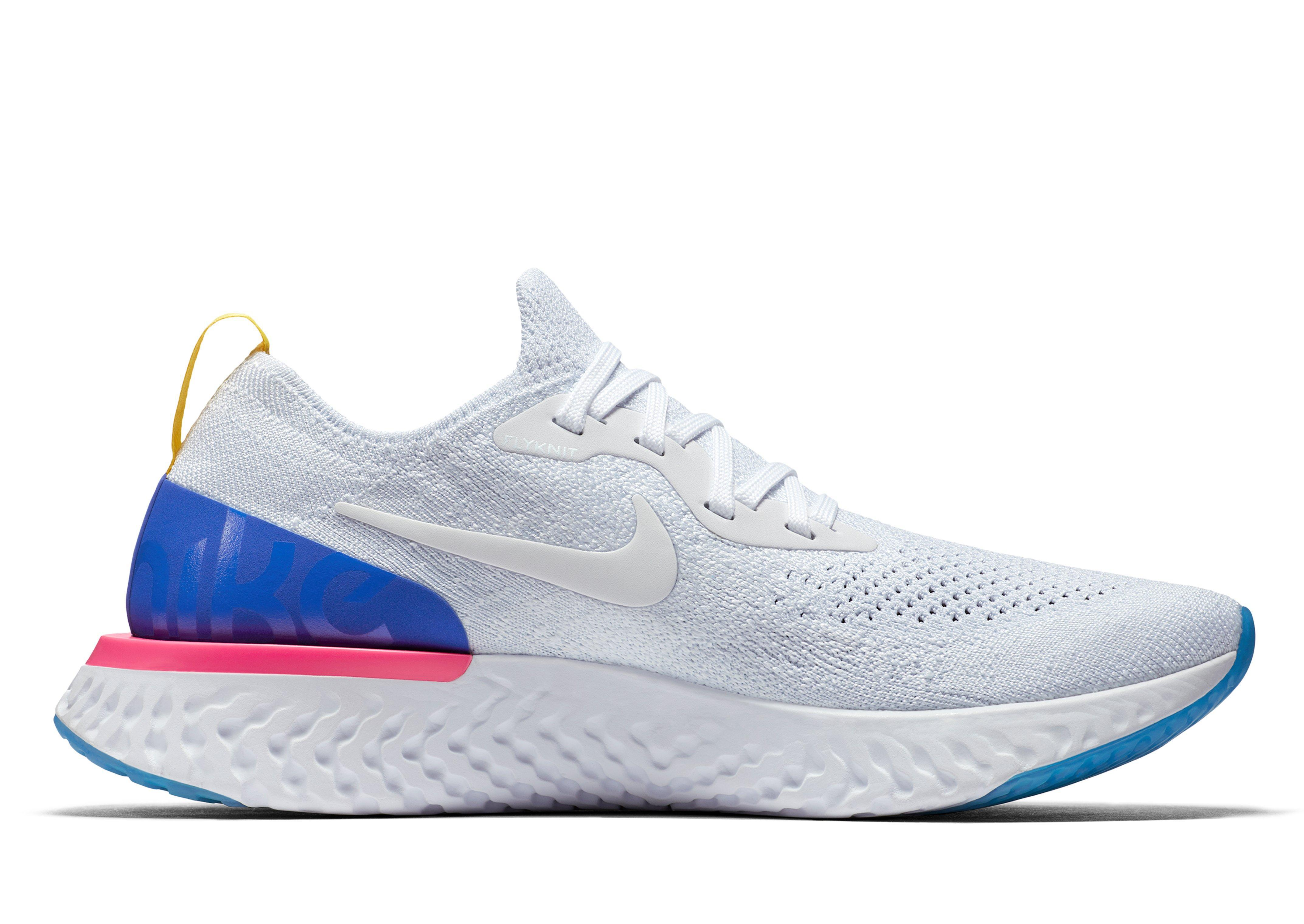 0226779b0a5d Nike Epic React Flyknit Running Shoes in Blue - Lyst