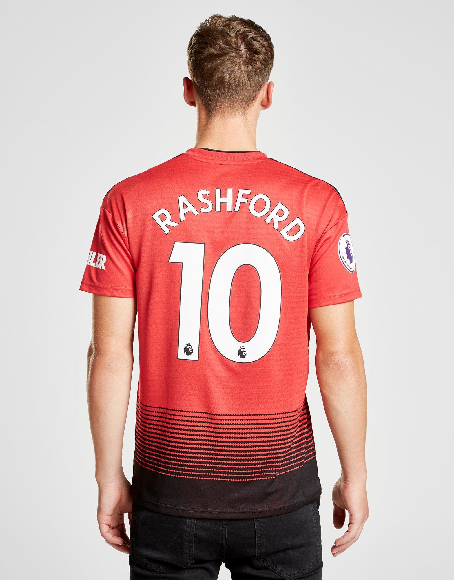 best loved 060d5 07841 Adidas Red Manchester United 2018/19 Rashford #10 Home Shirt for men