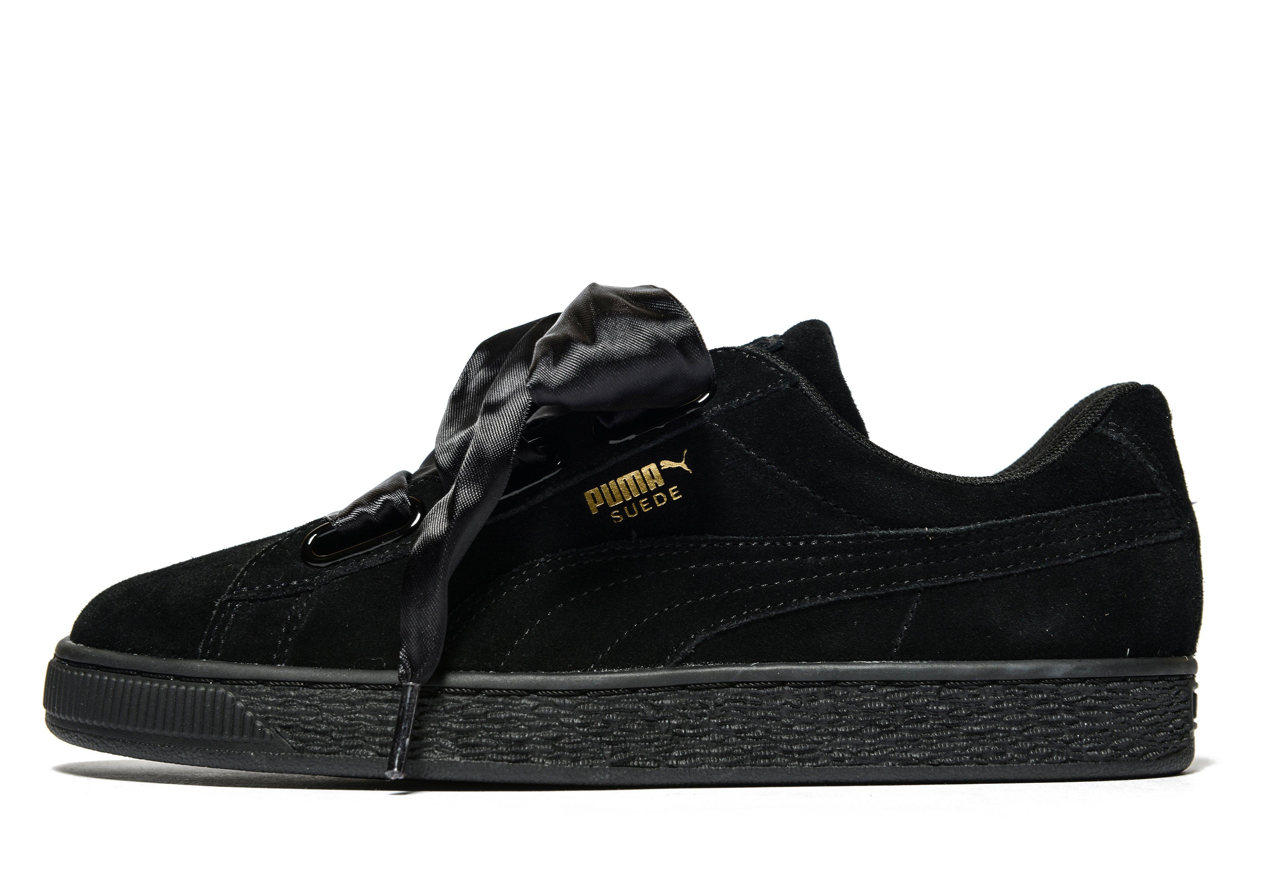 puma suede heart ii in black lyst. Black Bedroom Furniture Sets. Home Design Ideas