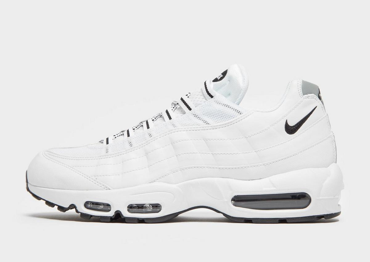 Nike Lace Air Max 95 in White/ Platinum