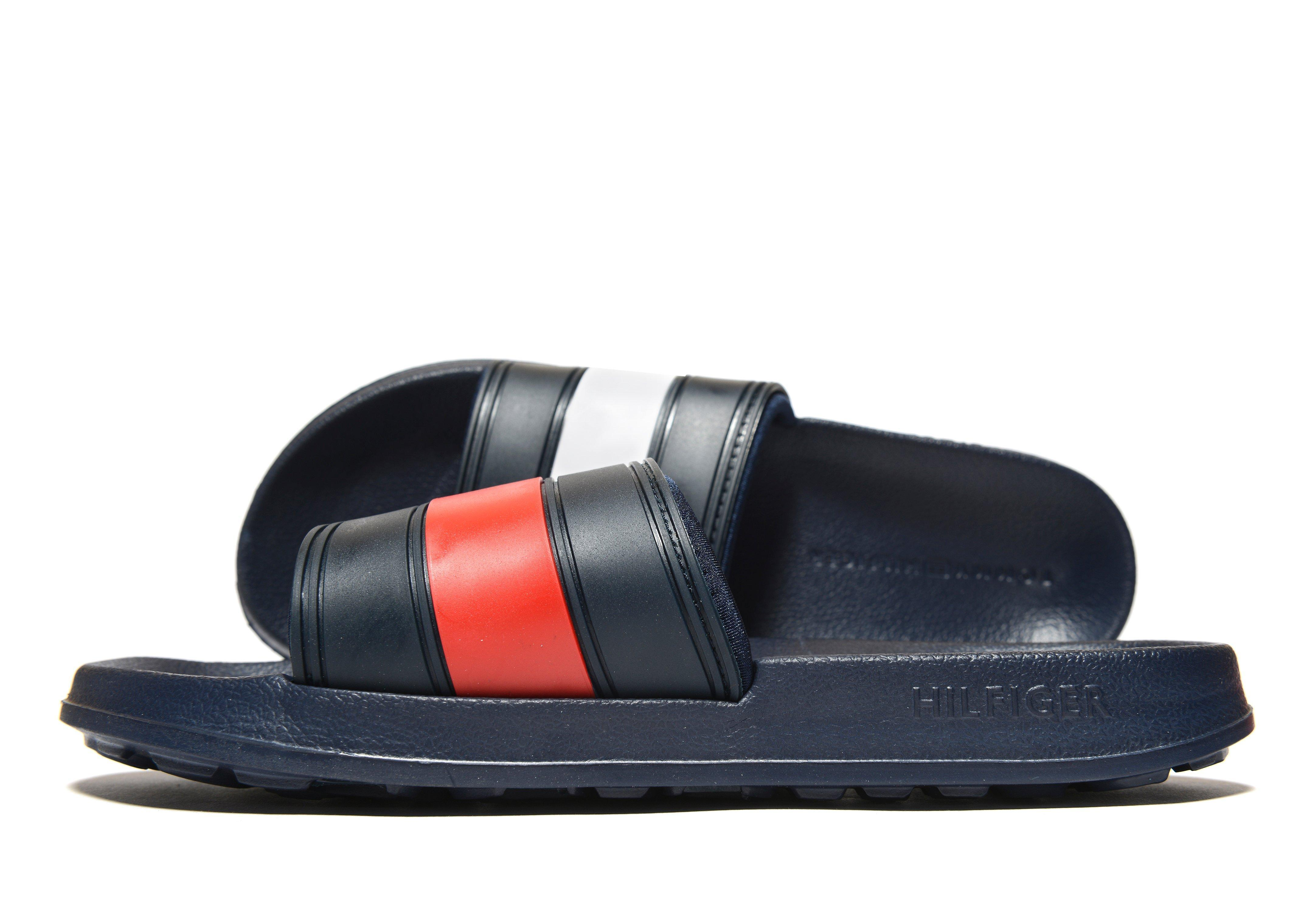 Tommy Hilfiger Synthetic Slides Womens In Blue Lyst