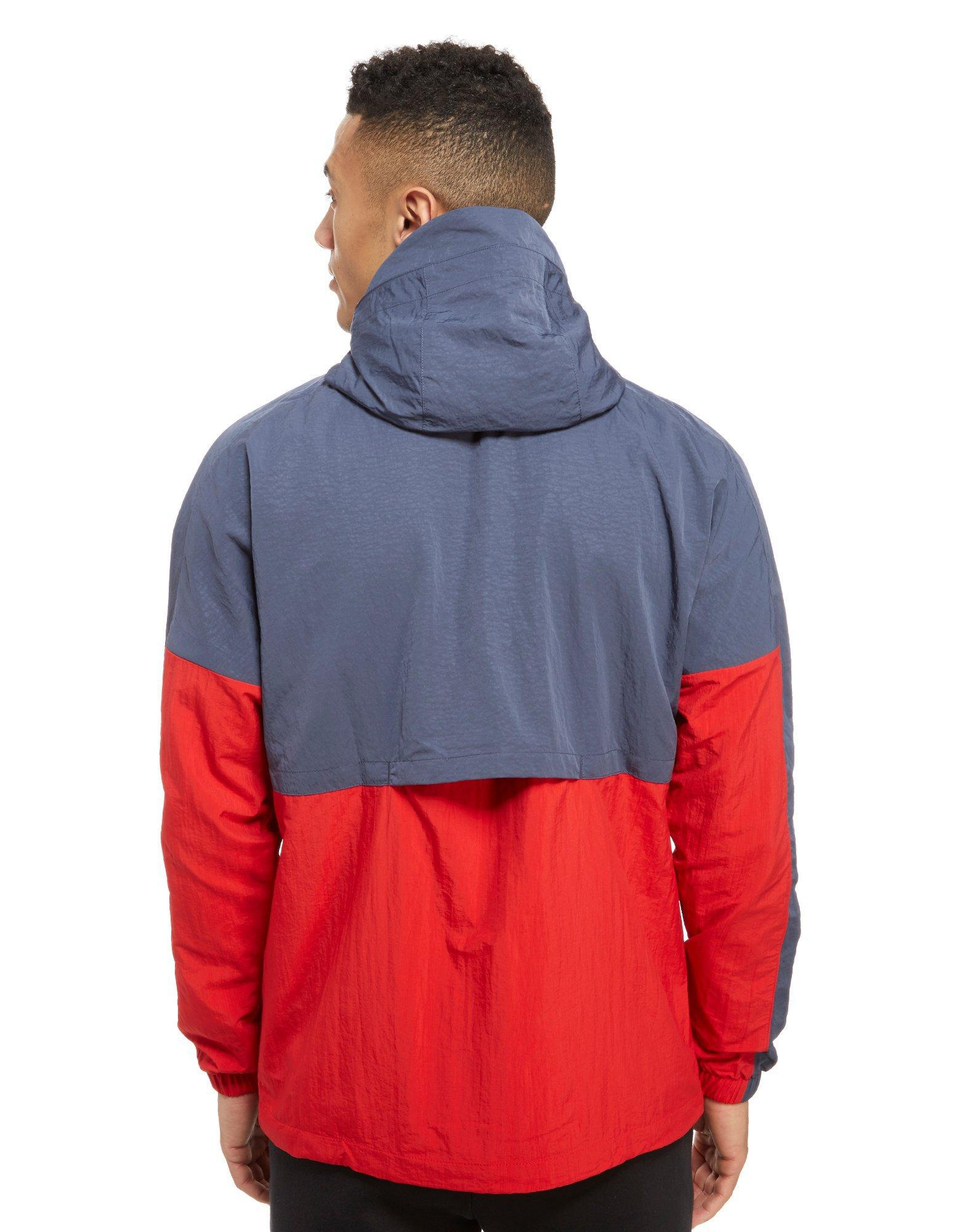 lyst nike air 1 2 zip jacket in red for men. Black Bedroom Furniture Sets. Home Design Ideas