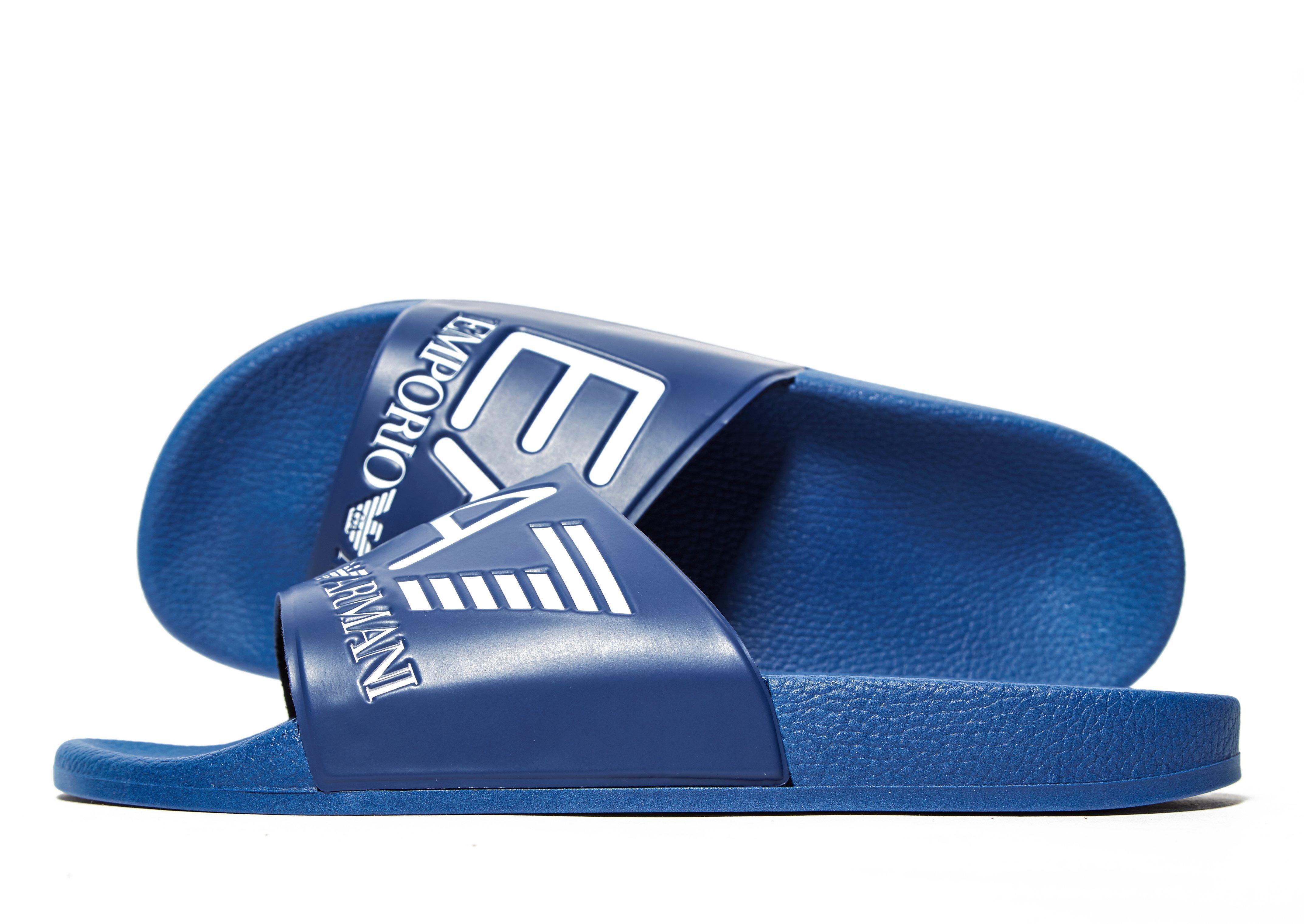 f796b7cd4 EA7 Sea World Slides in Blue for Men - Lyst