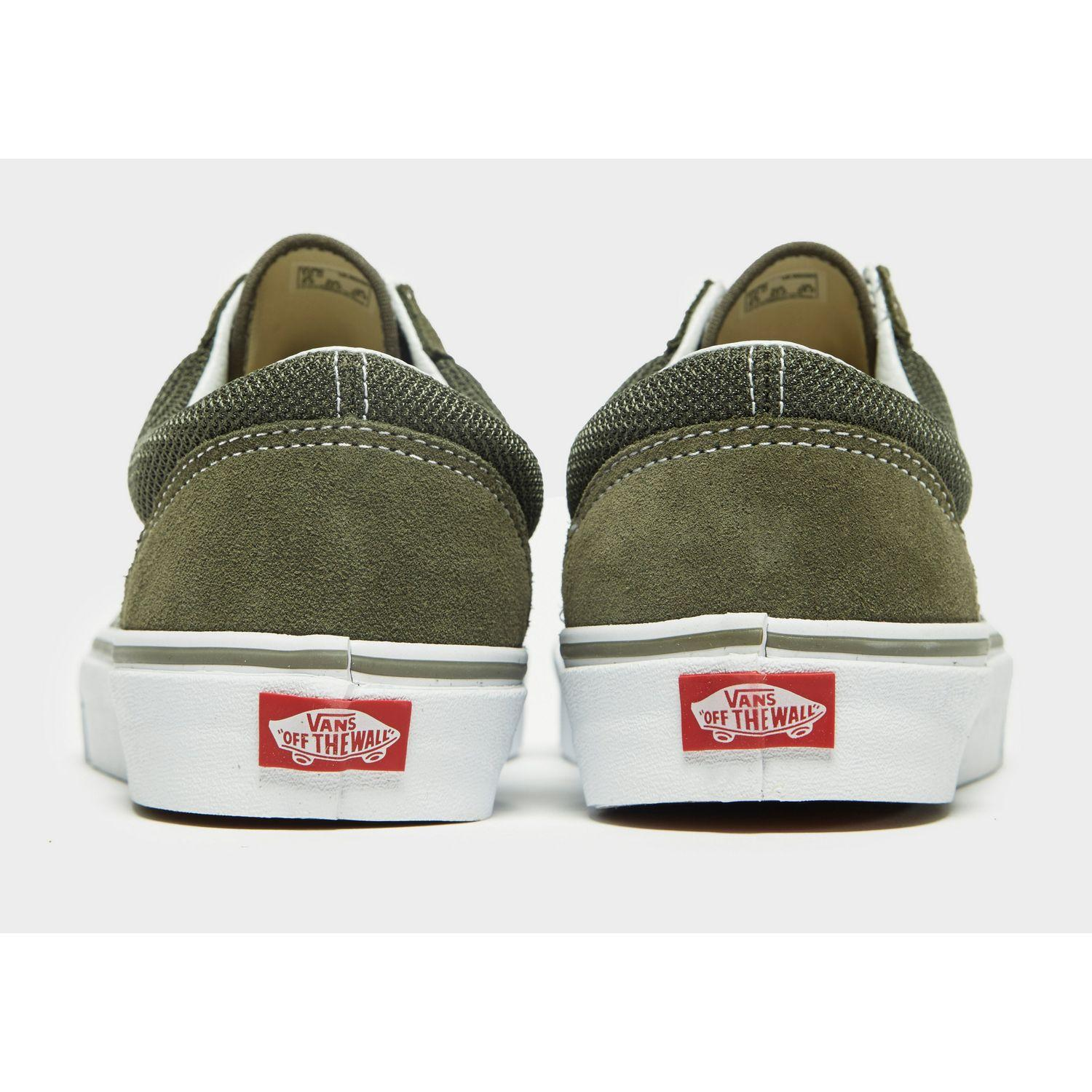 Vans Suede Style 36 Mesh in Green/White