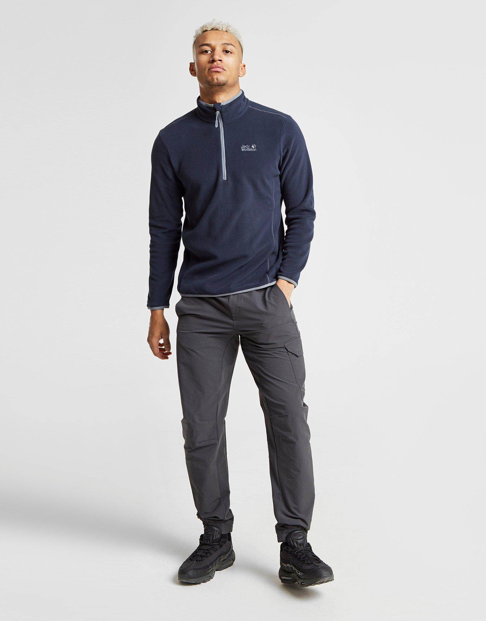 Lyst Jack Wolfskin Echo 1 4 Zip Sweatshirt In Blue For Men Jake Fleece Combie Grey View Fullscreen