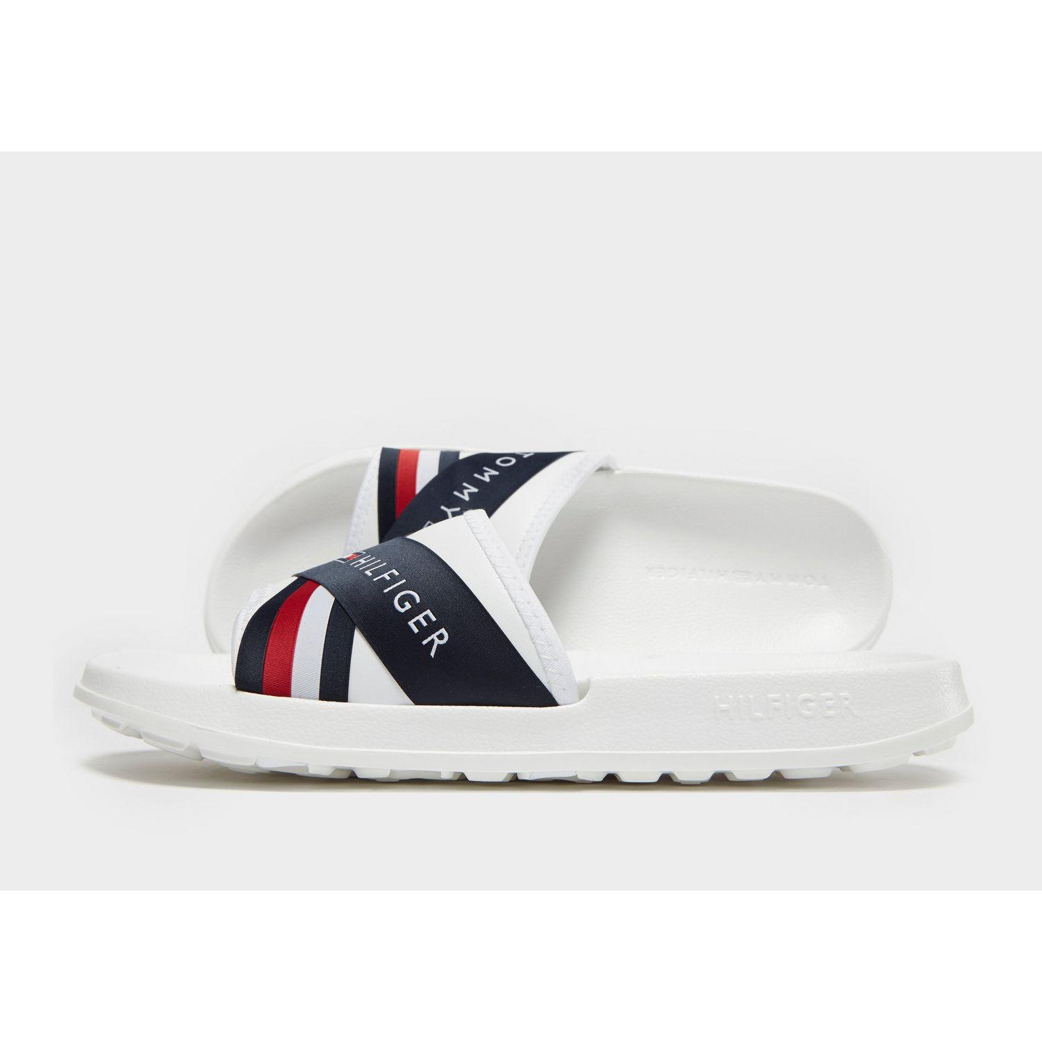 Tommy Hilfiger Splash Sliders in White for Men - Save 50% - Lyst