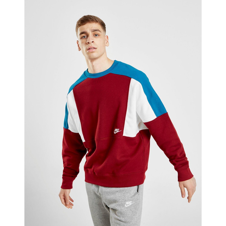 Predownload: Nike Cotton Reissue Crew Sweatshirt In Red Blue White Red For Men Lyst [ 1500 x 1500 Pixel ]