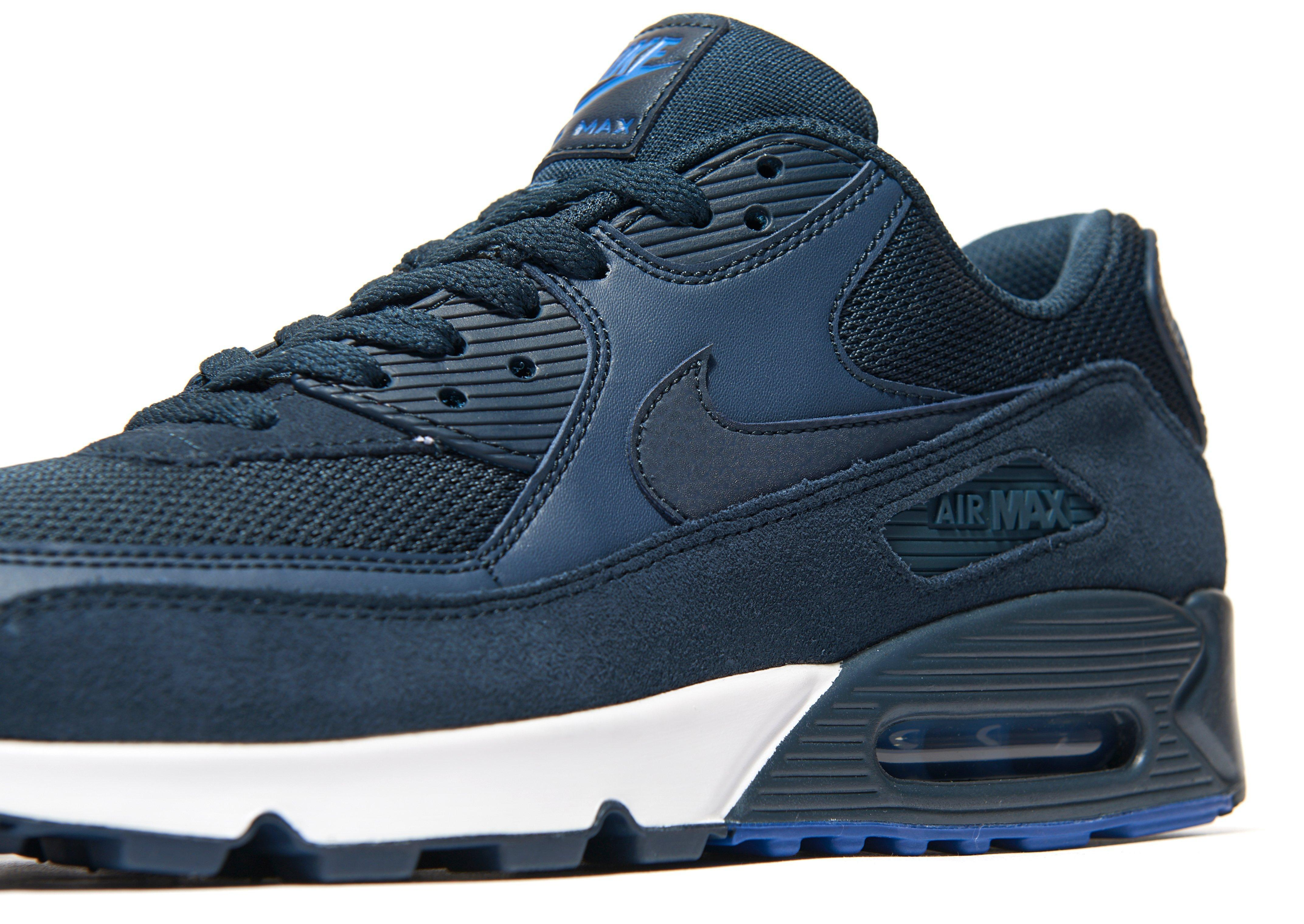 Nike Leather Air Max 90 Army Trainers in Navy/Blue (Blue) for Men ...