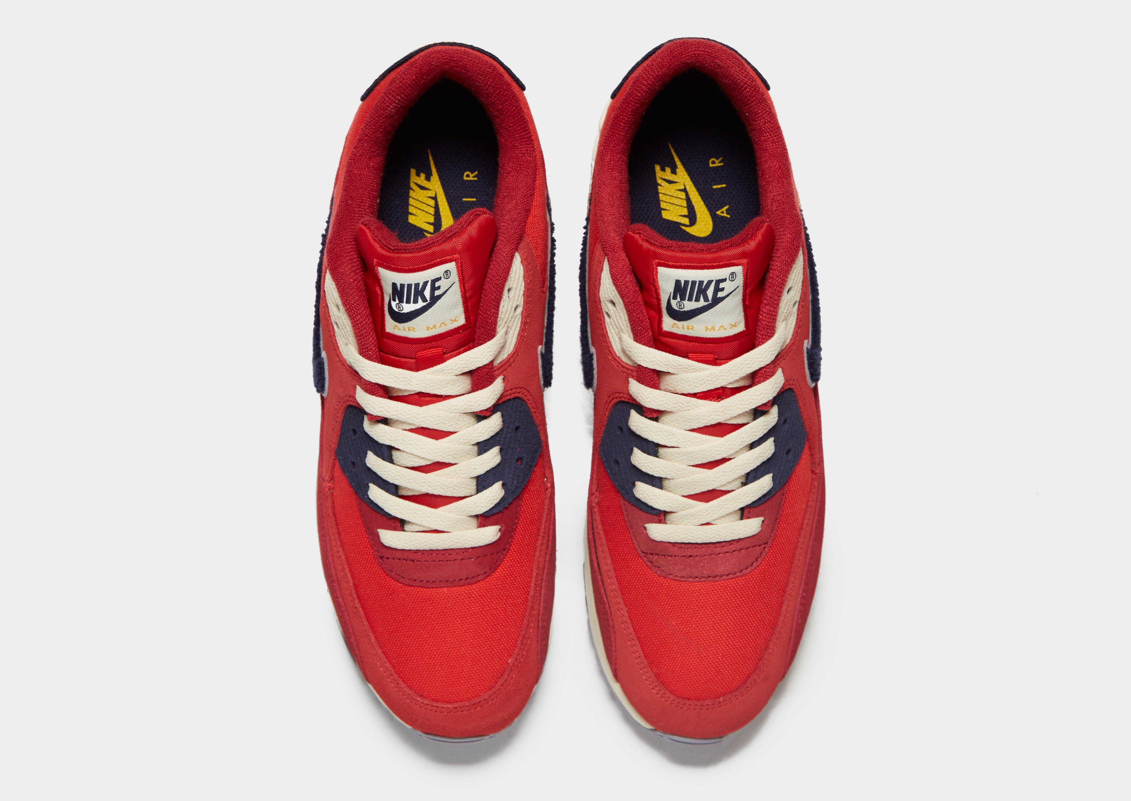 Nike Suede Air Max 90 Premium in Red for Men