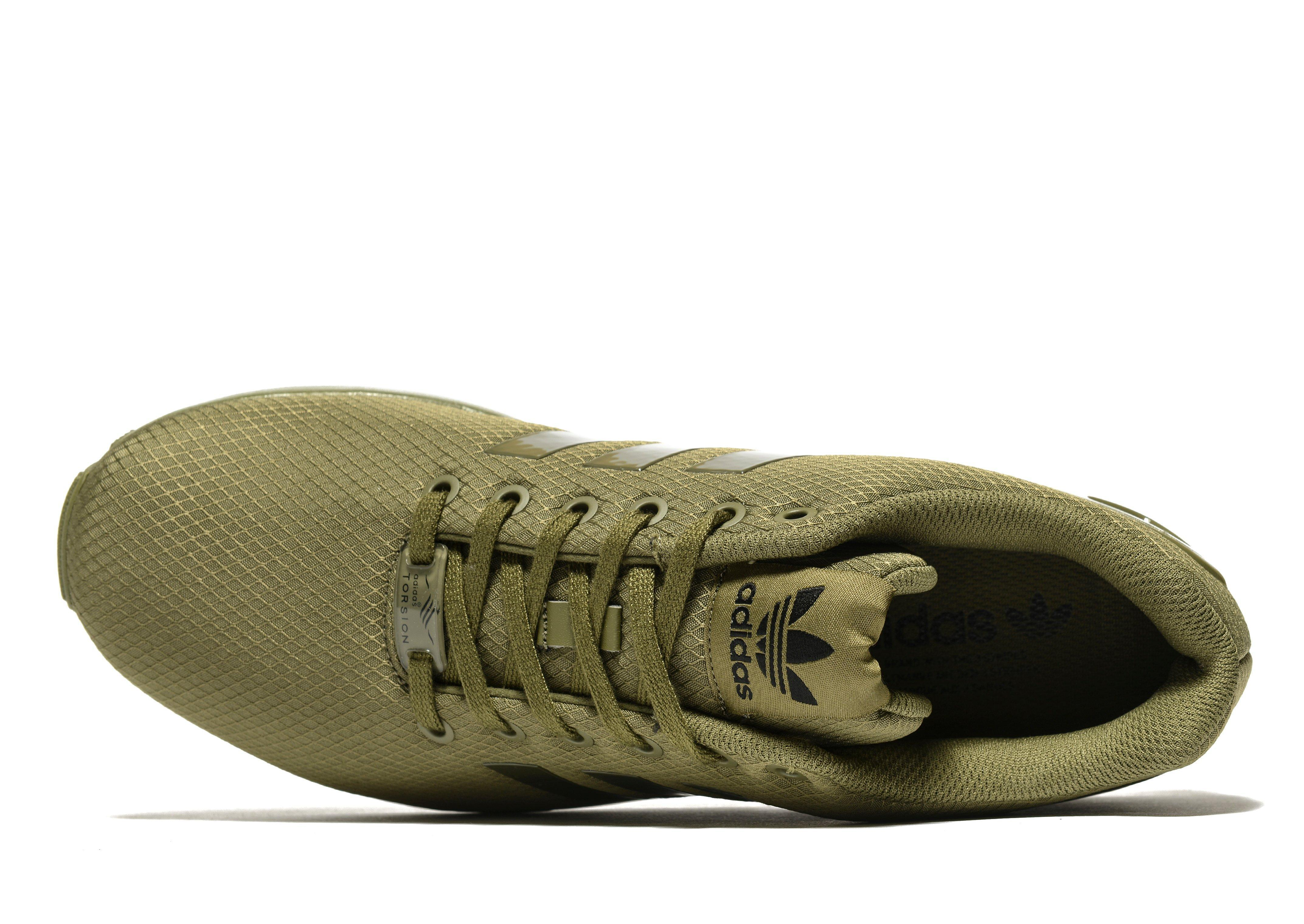 b30494619f5a ... reduced lyst adidas originals zx flux ripstop in green for men 031c4  31200