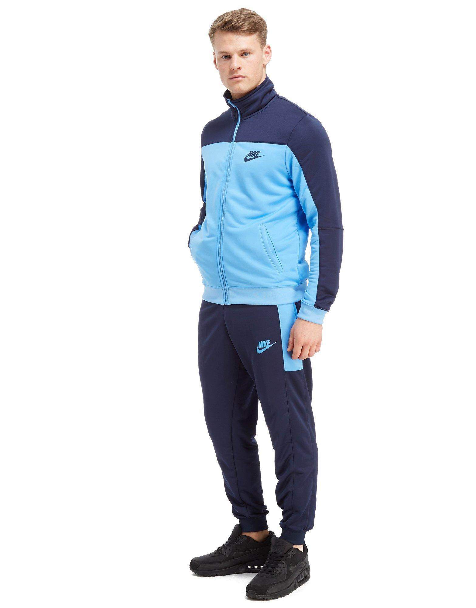 12a97a832c Lyst - Nike Season Colourblock Poly Track Pants in Blue for Men