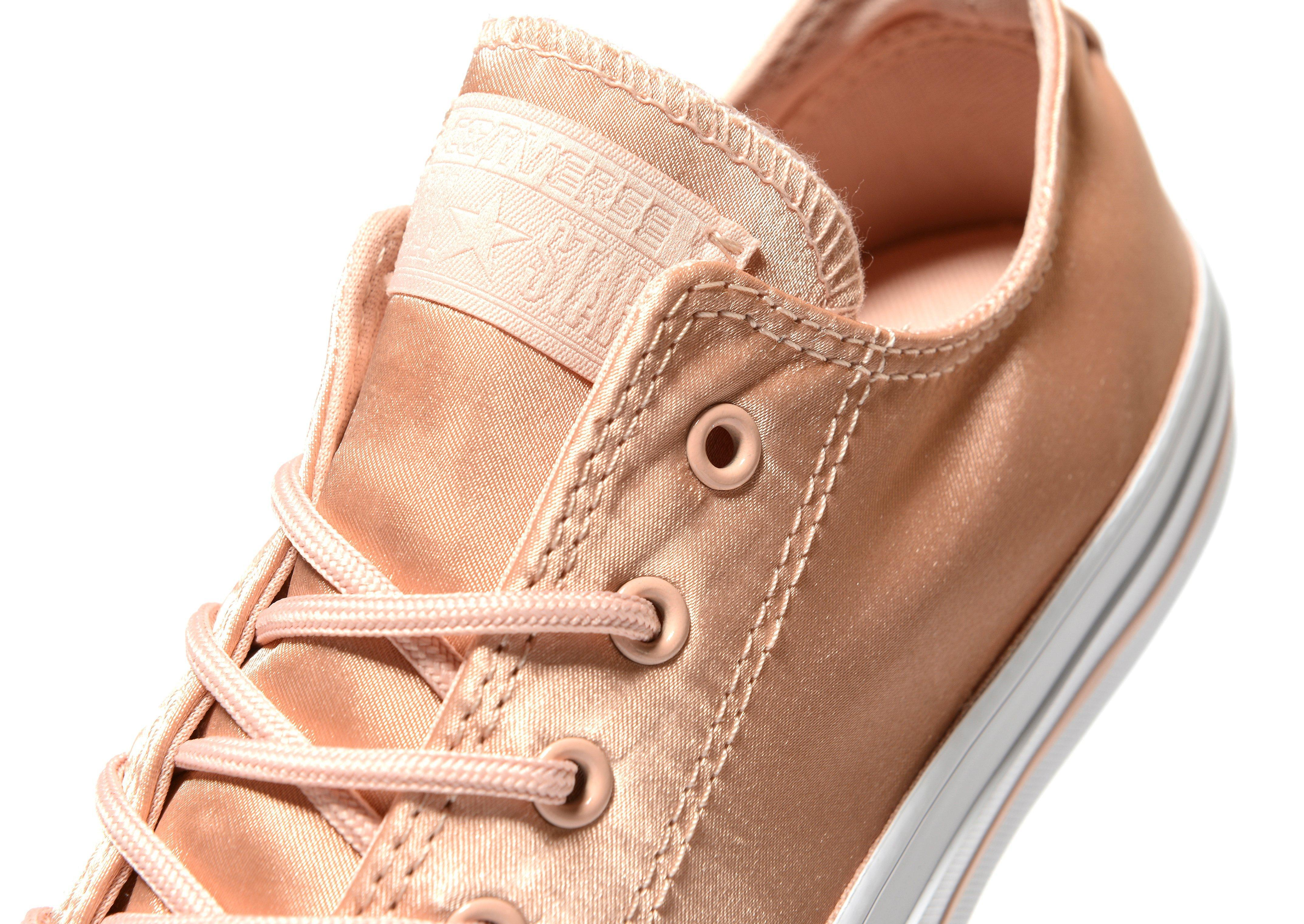4f7d19322a34 Lyst - Converse All Star Ox Satin in Pink
