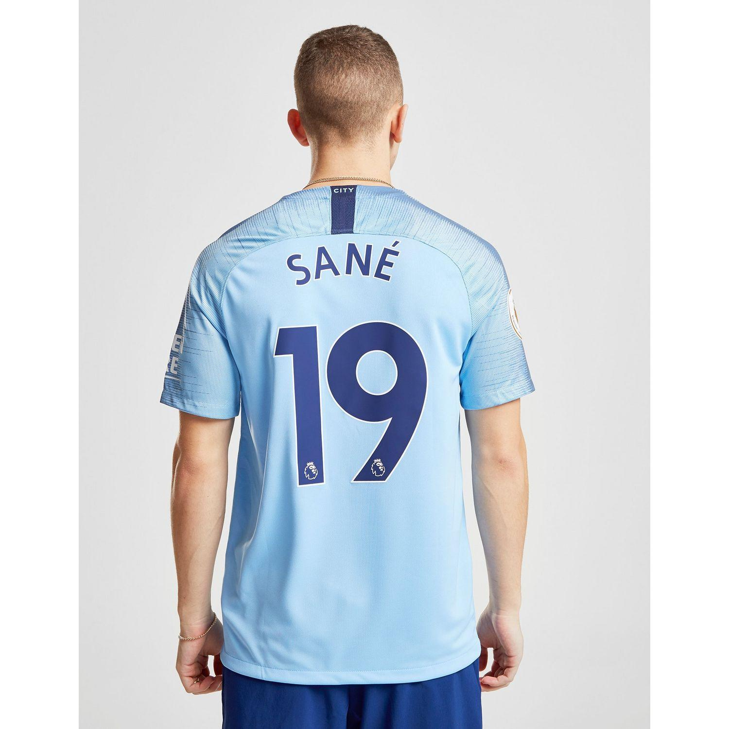 competitive price 0bfcc bba37 Men's Blue Manchester City Fc 2018/19 Sane #19 Home Shirt