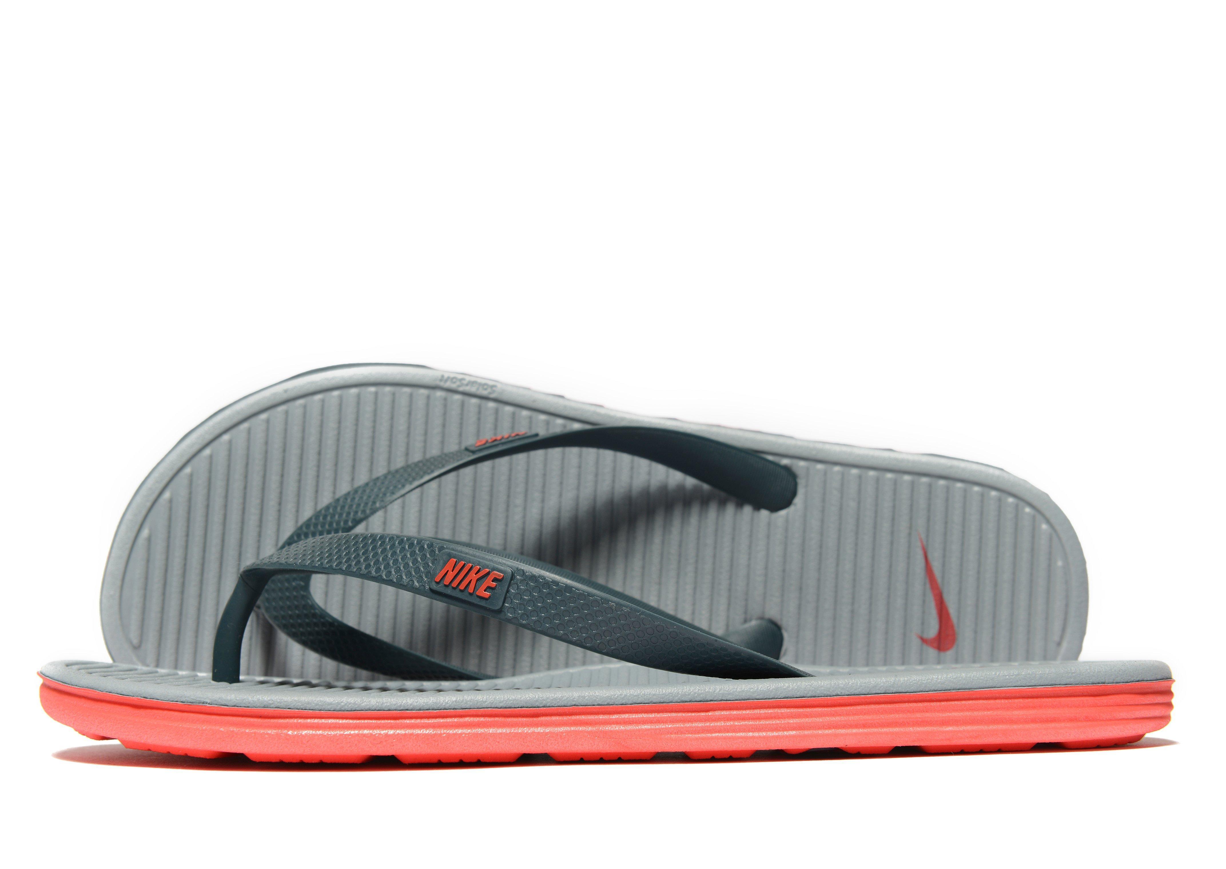 f8b3bbbbff9 Nike Solarsoft Ii Flip Flops in Gray for Men - Lyst