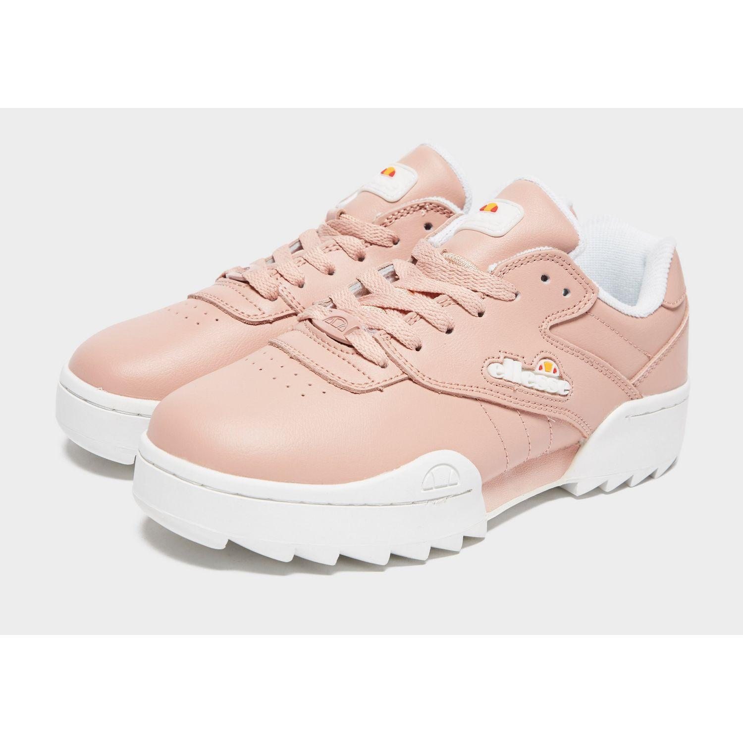 Ellesse Leather Plativo in Pink/White