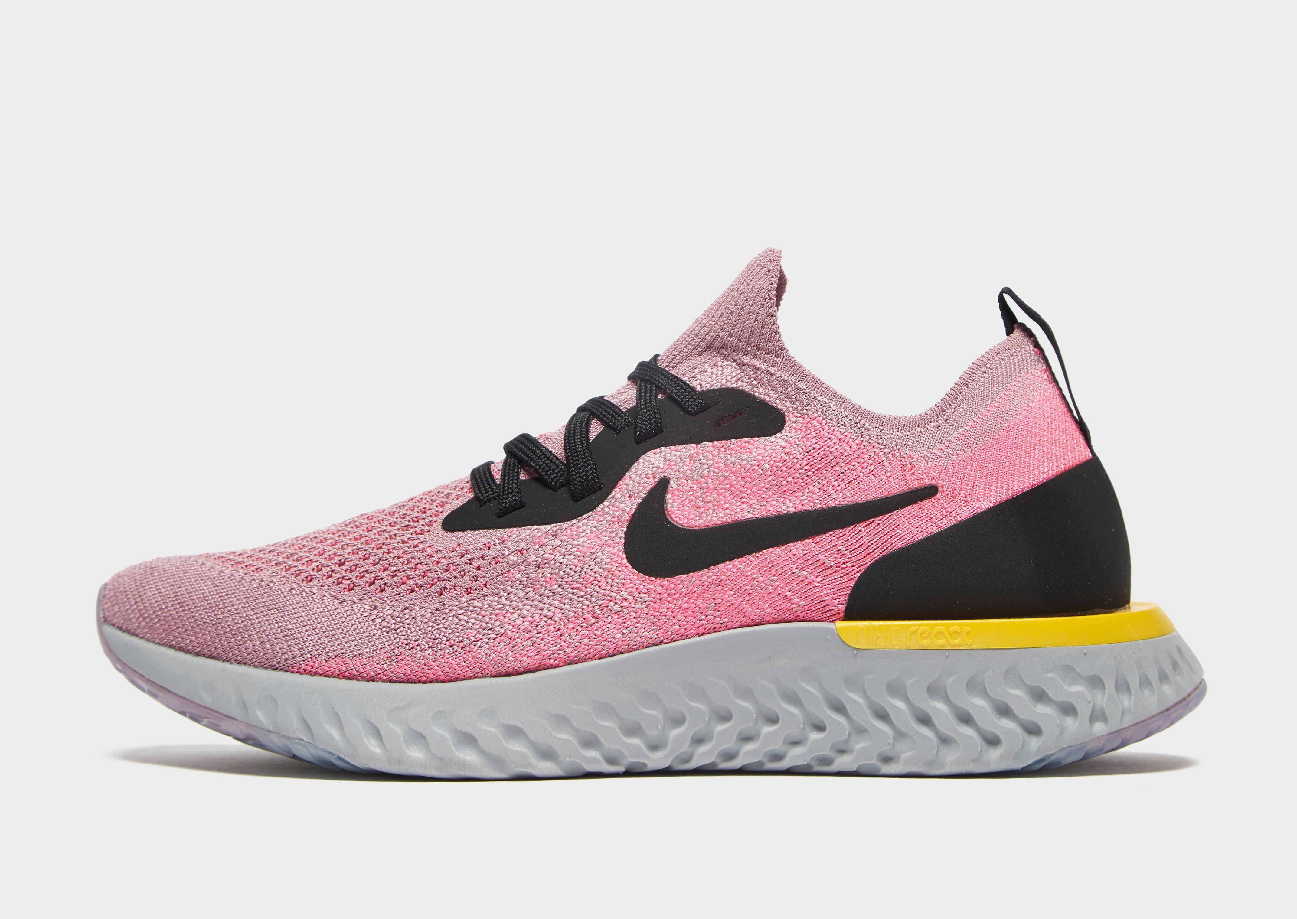Nike Epic React Flyknit in Pink - Lyst 77bff019238c