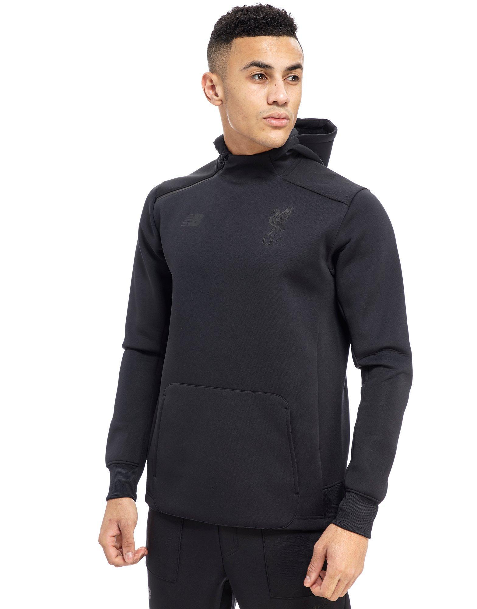 New Balance Synthetic 247 Liverpool Fc Hoodie In Black For Men Lyst