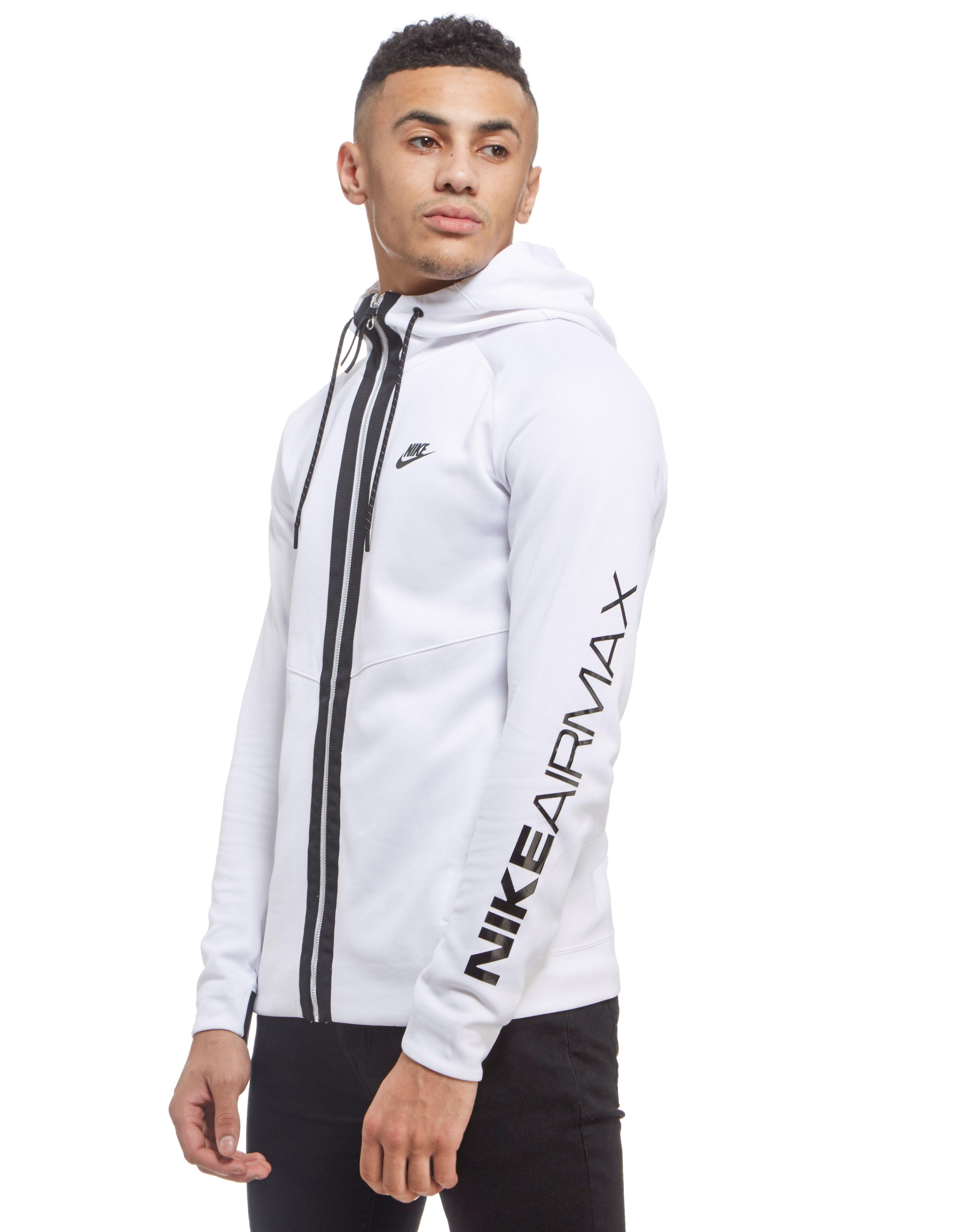 Nike Synthetic Air Max Full Zip Hoodie in White for Men Lyst