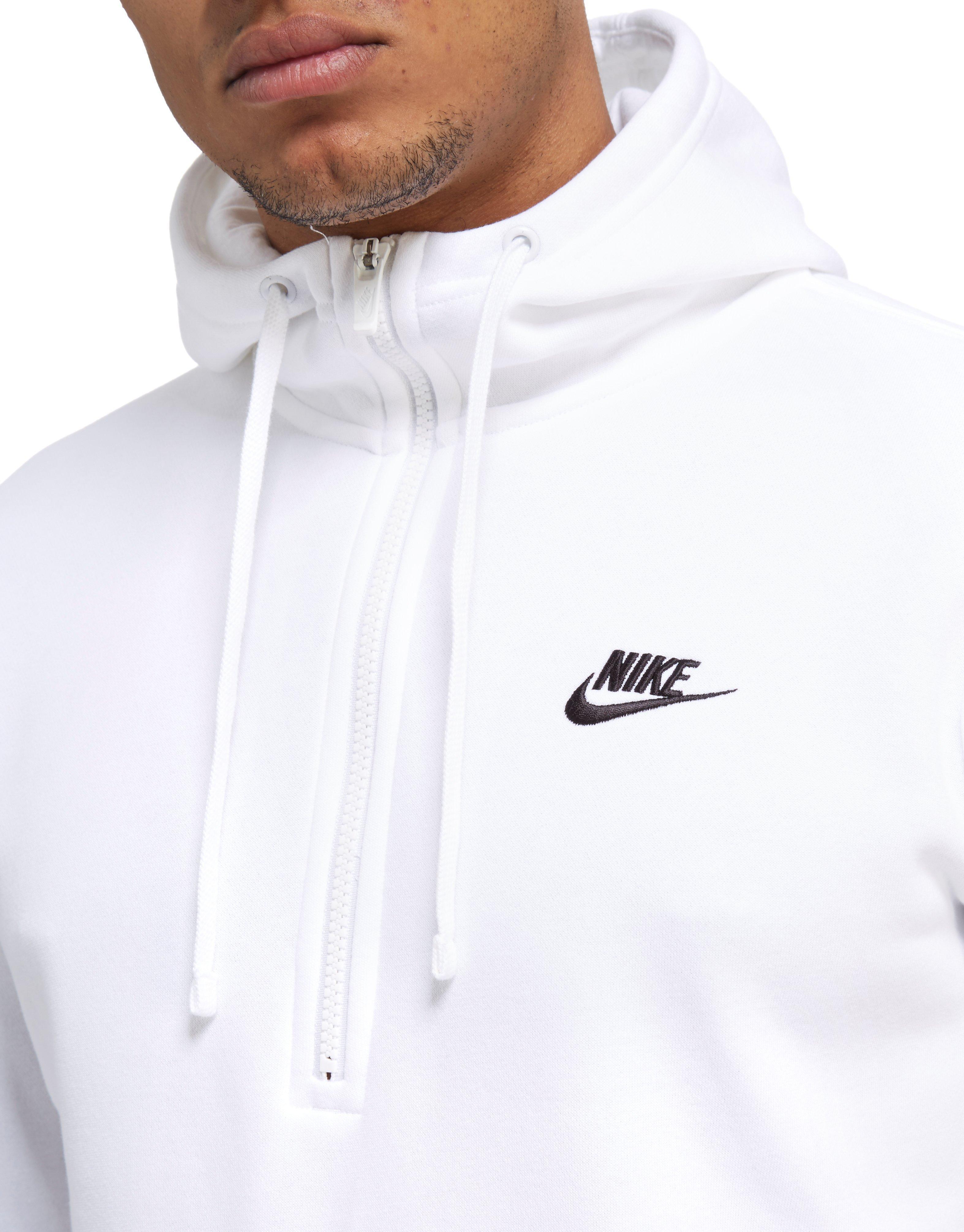 mens white nike zip up hoodie factory