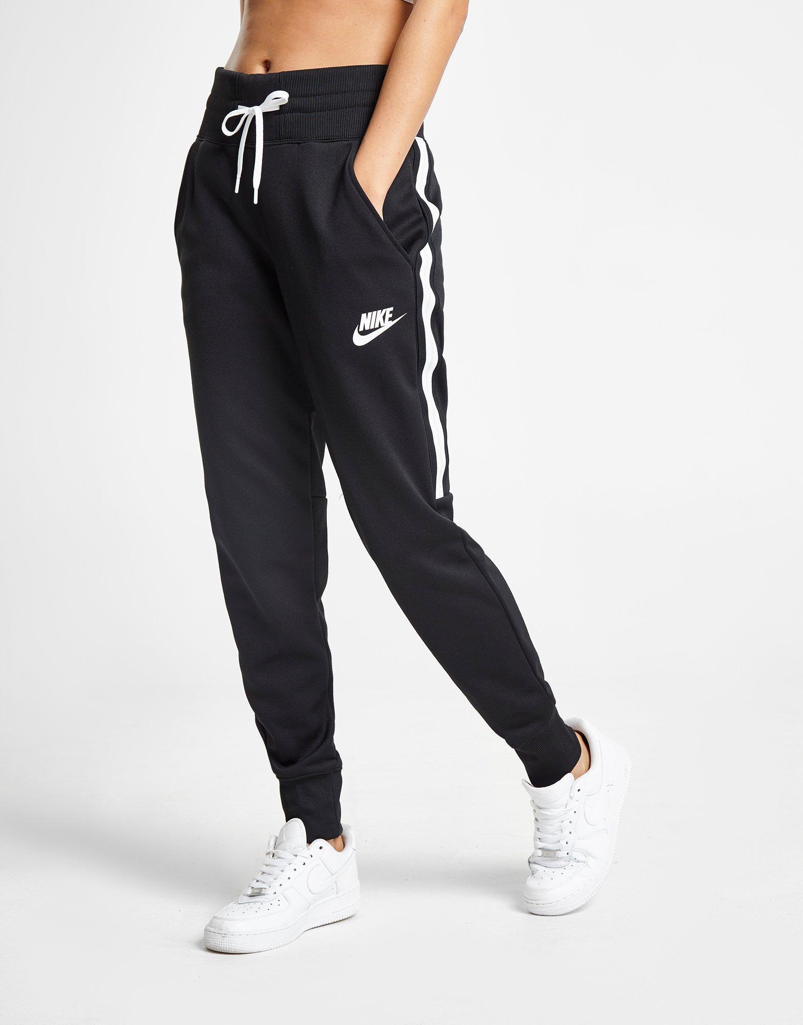 b7eff9cae66b Nike Poly Stripe Track Pants in Black - Lyst