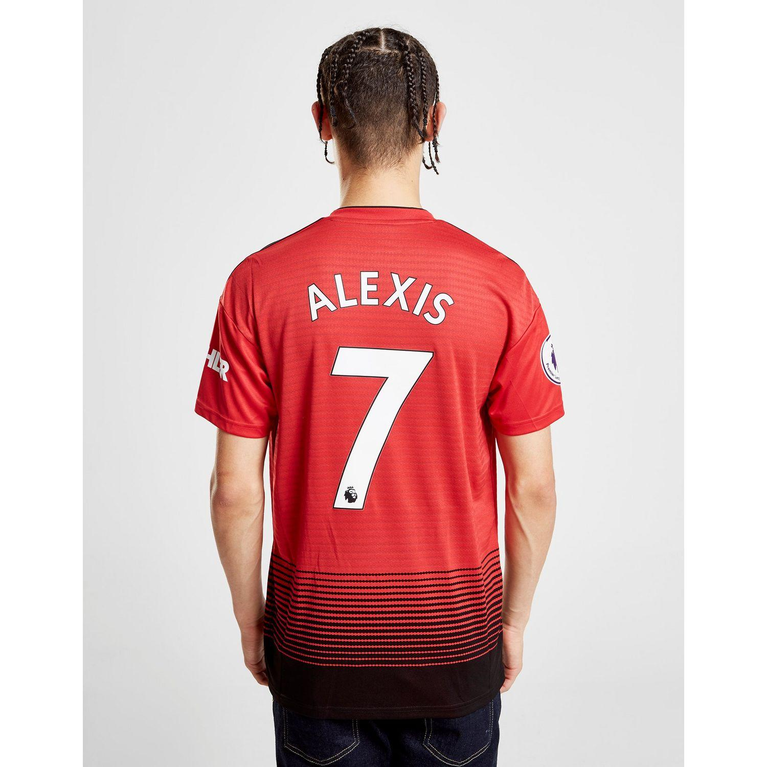 pretty nice 0e0aa 2d795 adidas Synthetic Manchester United Fc 2018/19 Alexis #7 Home ...