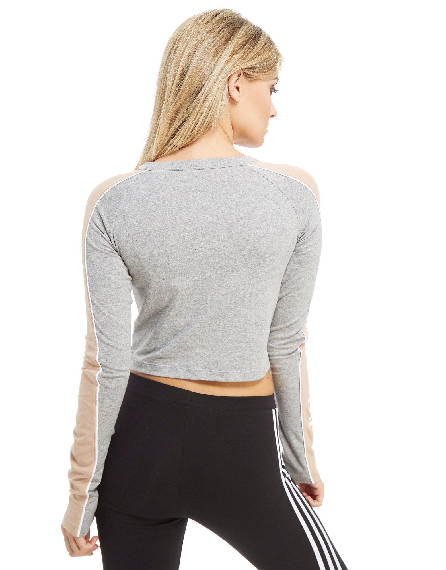 Adidas Lyst Originals Linear Long Sleeve Crop camiseta Adidas en Gray 15628 Lyst 0a0380a - rspr.host