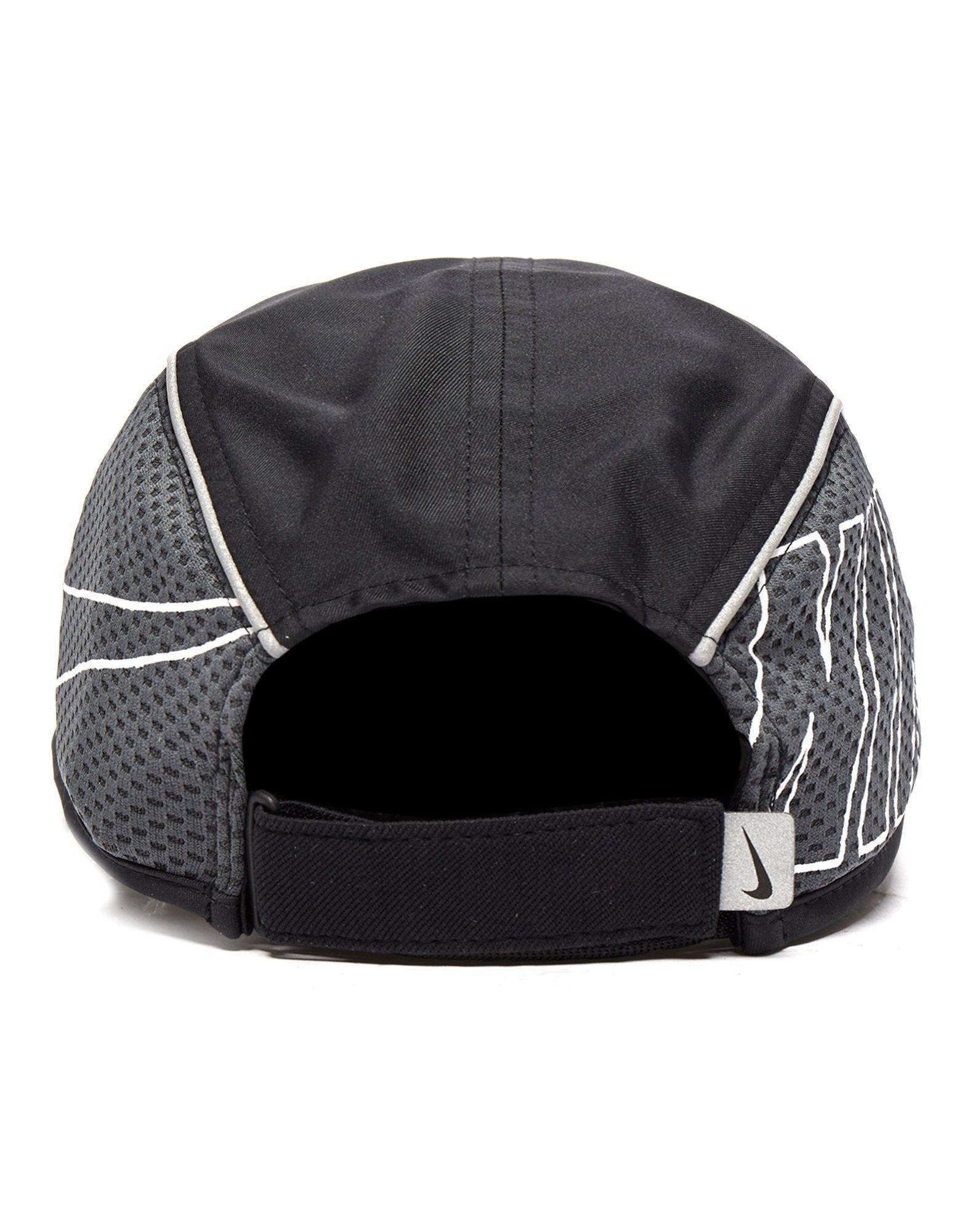 e9e7437f2cf Nike Run Swoosh Curved Peak Cap in Black for Men - Lyst