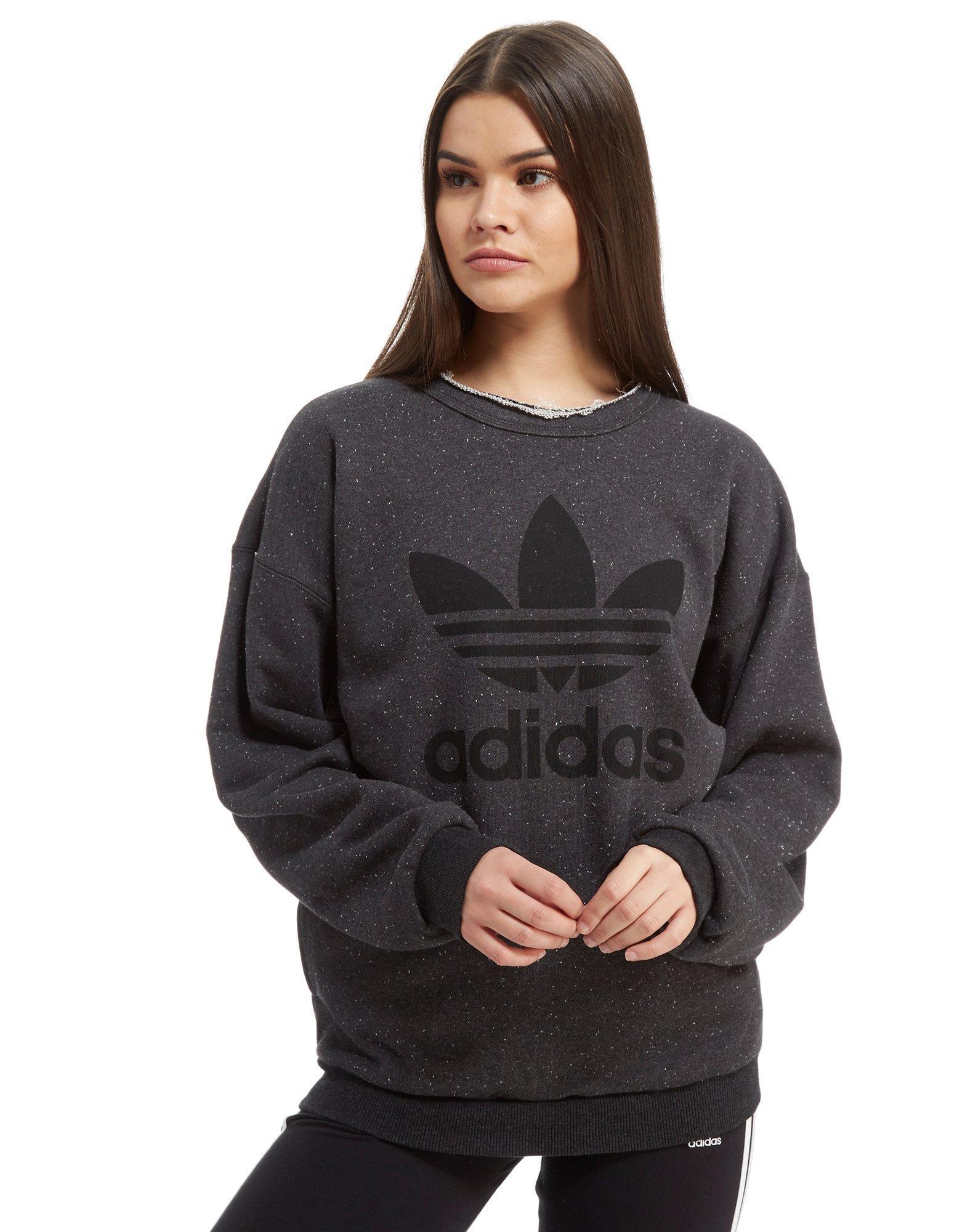 Originals Sweatshirt Crew In Adidas Lyst Gray Trefoil 5vHx8gn