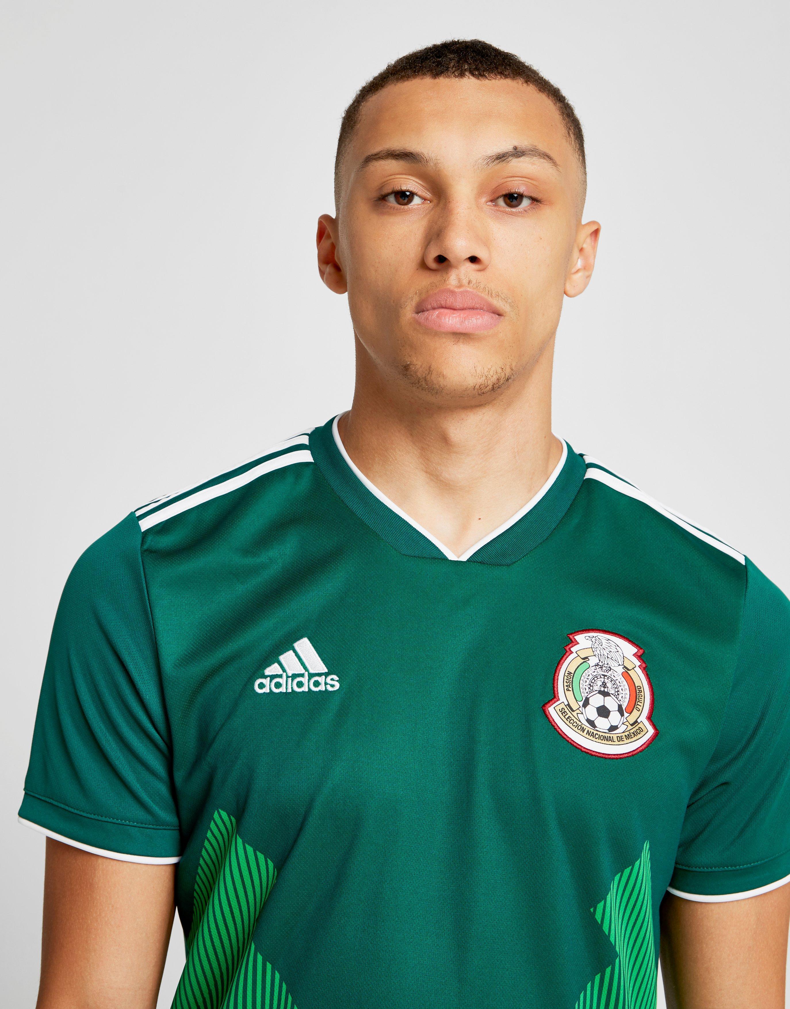 adidas Mexico 2018 Home Shirt in Green for Men - Lyst 4c0a62d96da22