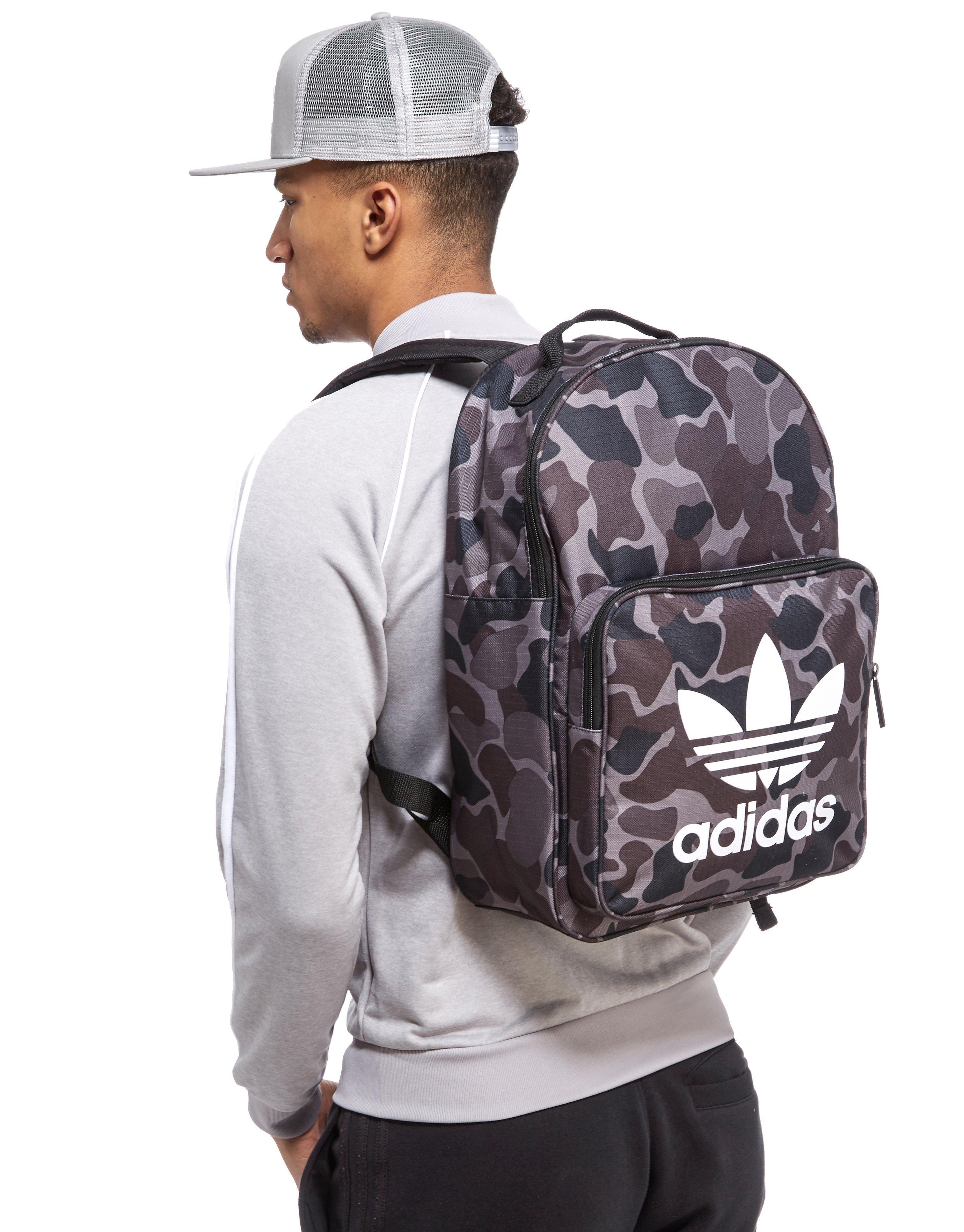 adidas Originals Classic Camo Backpack in Black for Men - Lyst e6fa3d8b85596