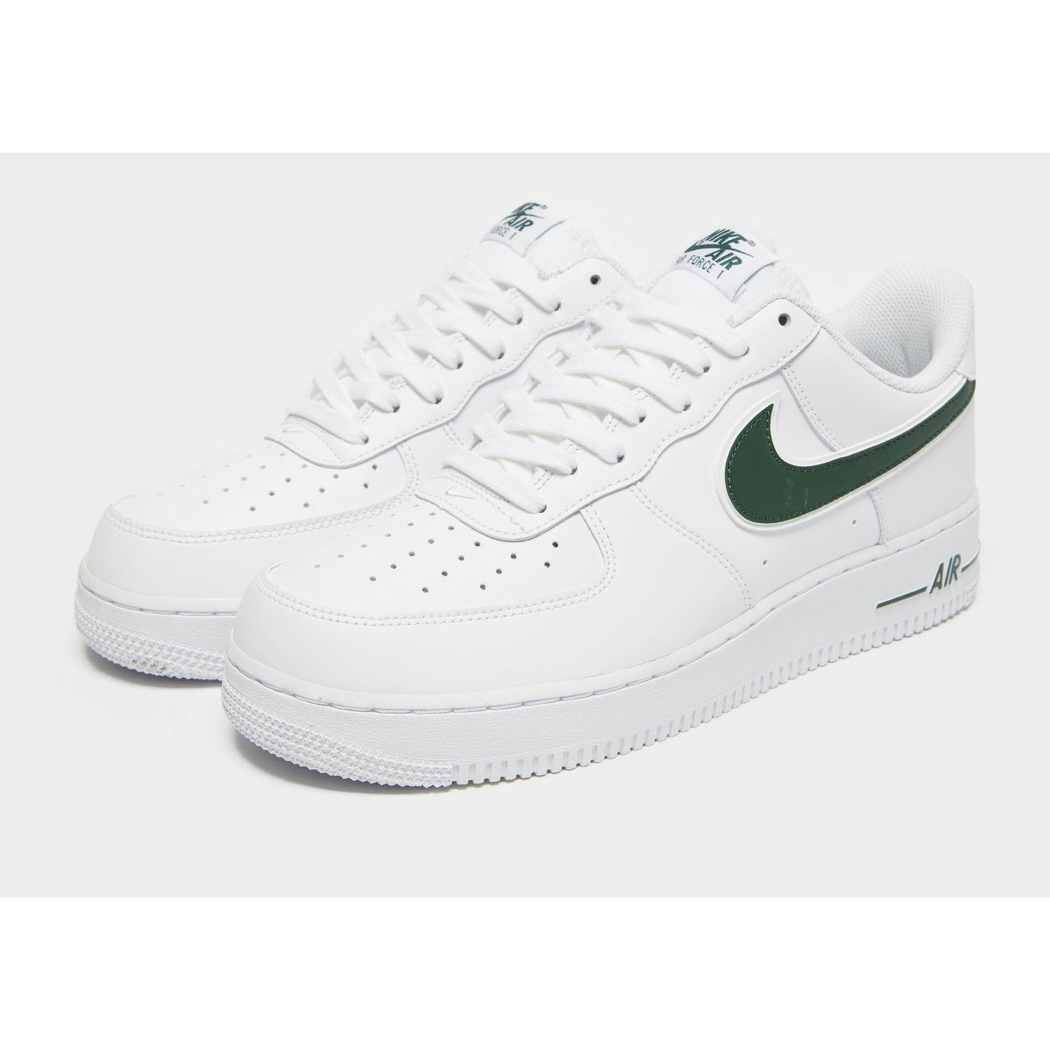 Nike Leather Air Force 1 '07 Low Essential in White/Green (White ...