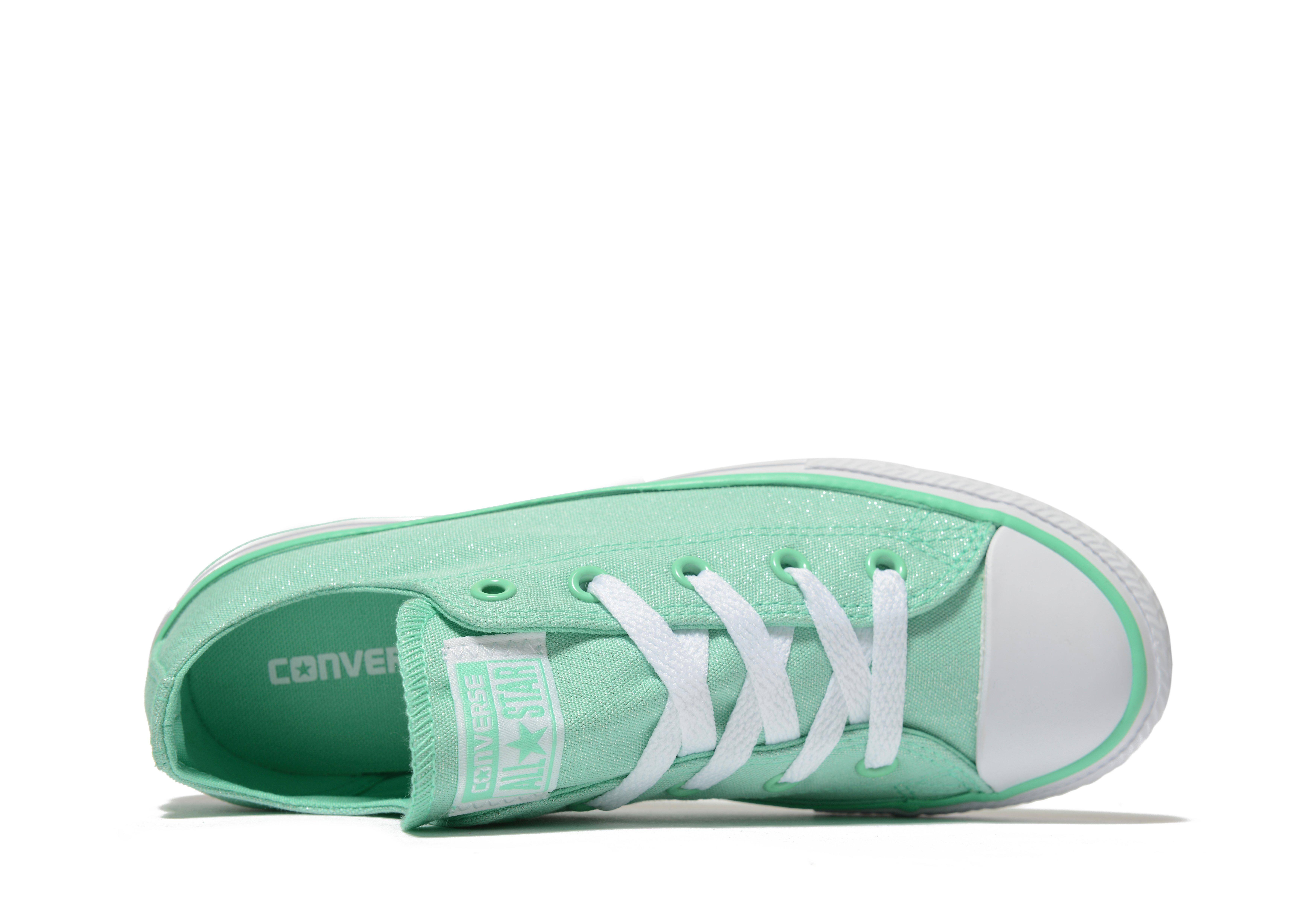 6291387faa9 Lyst - Converse All Star Ox Sparkle Children in Green