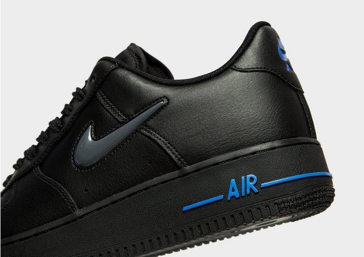 Nike Leather Air Force 1 Essential Jewel in Black/Blue/Grey (Black ...