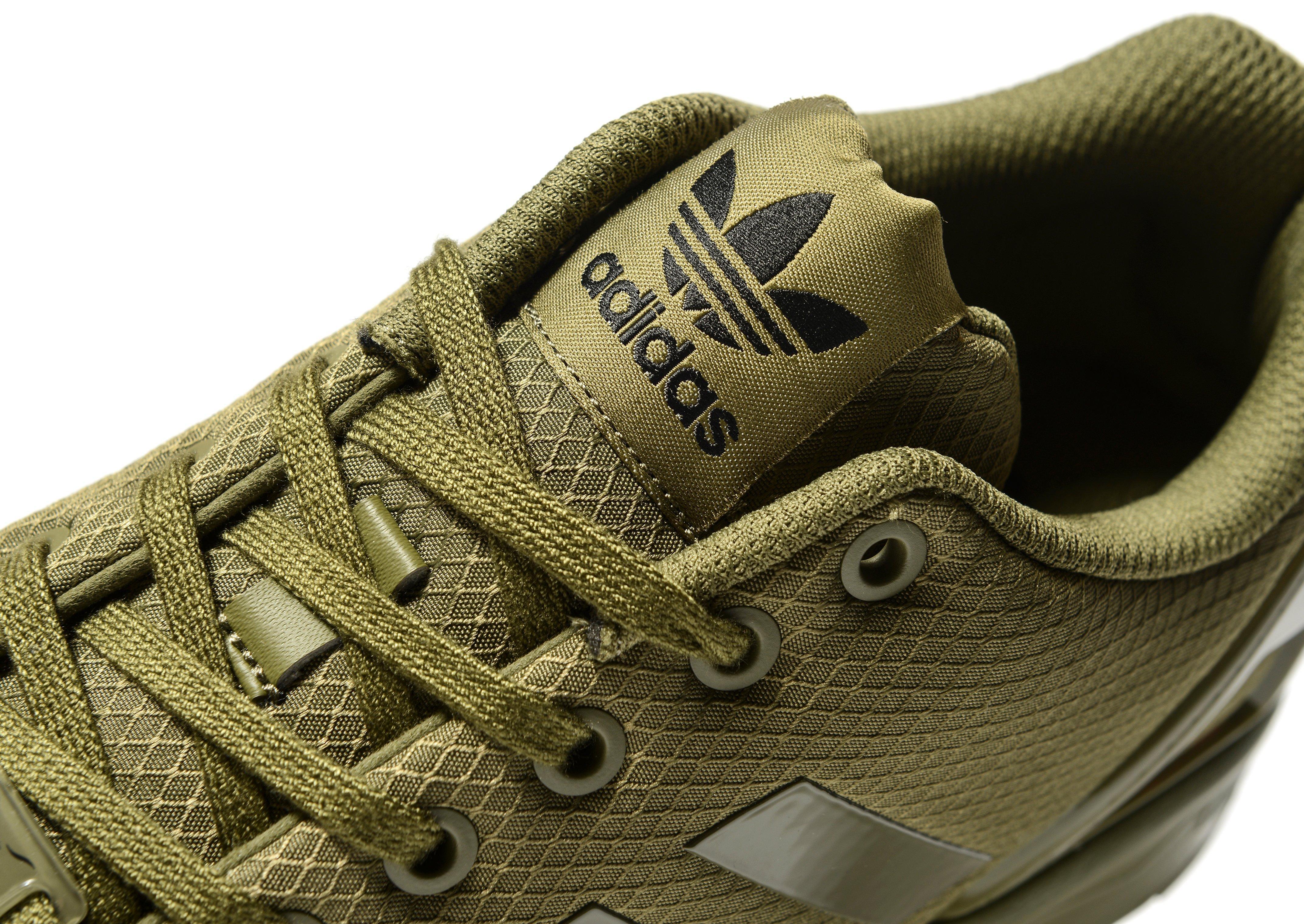 new concept b45c5 3d8fb Adidas Originals Green Zx Flux Ripstop for men