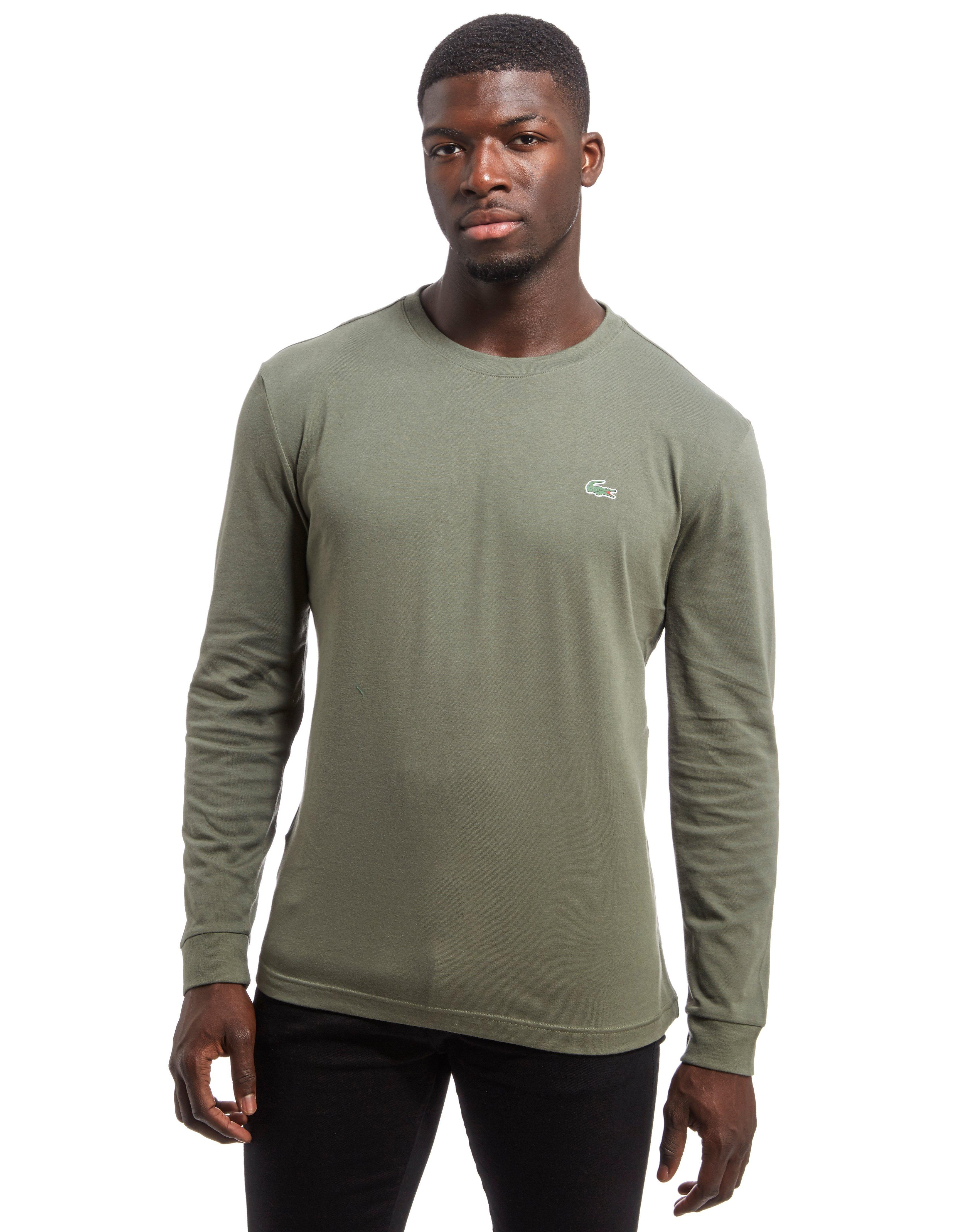 c8d5e0ab Lacoste Croc Long-sleeved T-shirt in Green for Men - Lyst